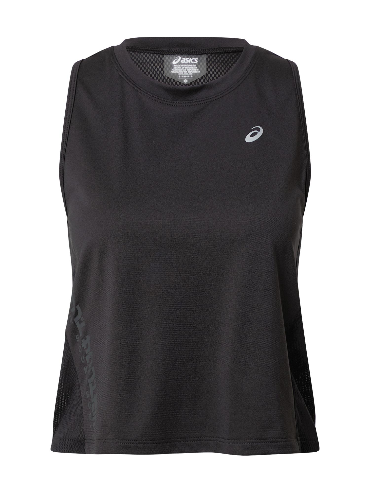 ASICS Sportiniai marškinėliai be rankovių juoda