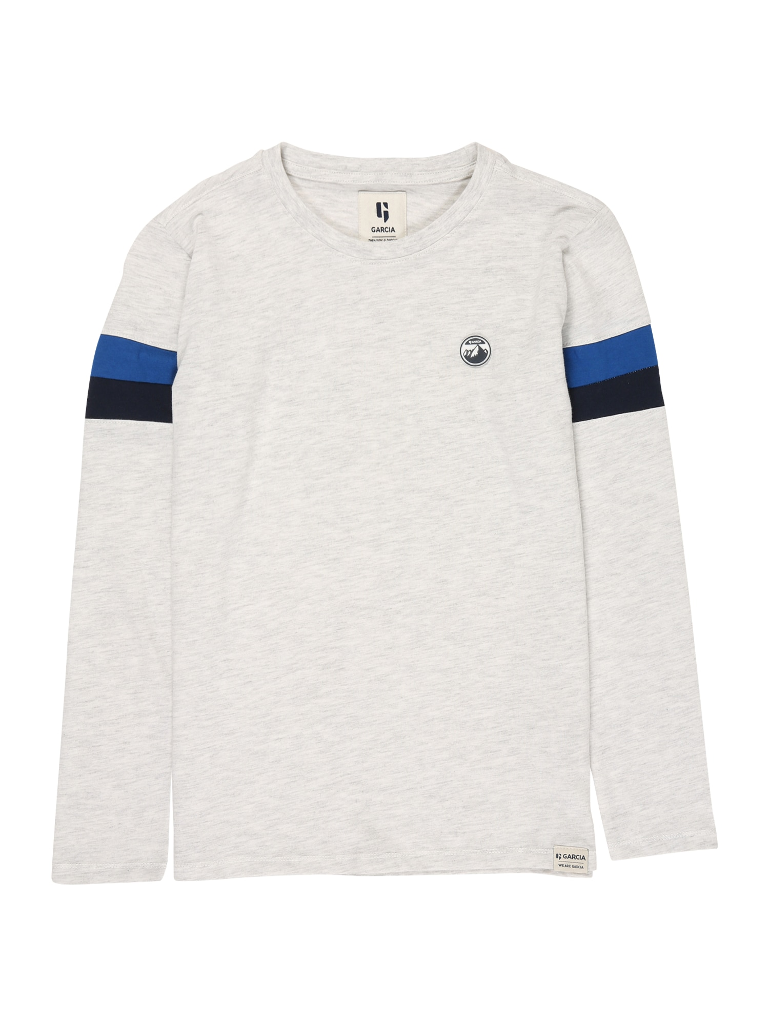 GARCIA Tričko  biela / modrá / čierna