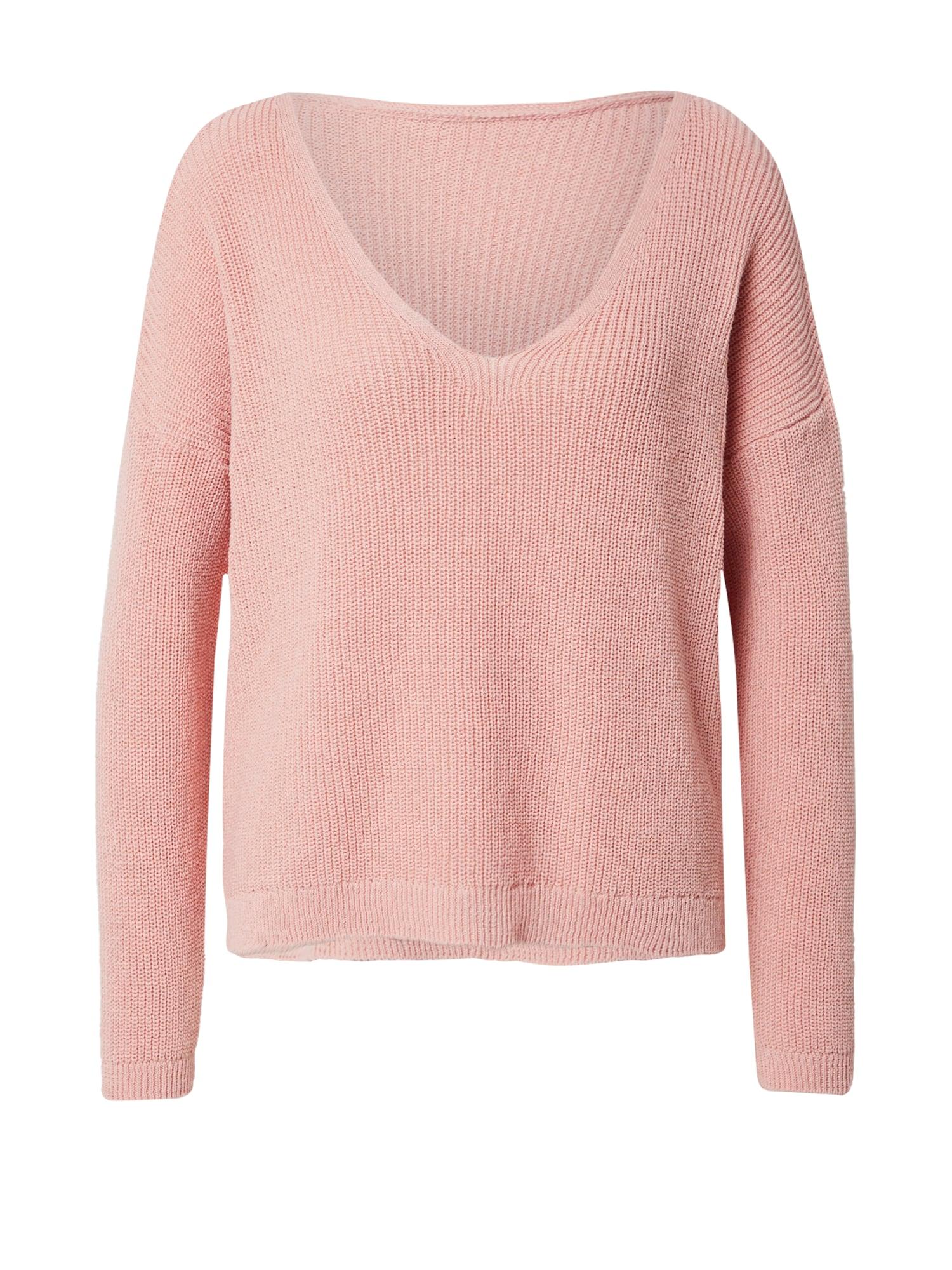 ONLY Megztinis 'Brynn Life' ryškiai rožinė spalva