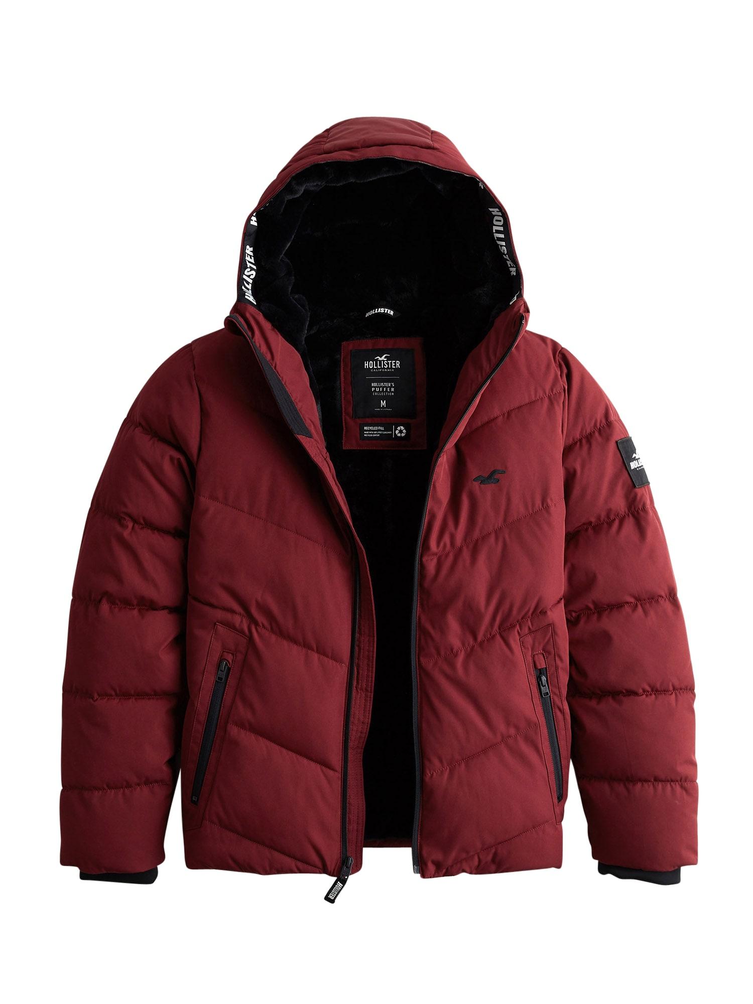 HOLLISTER Zimní bunda 'Webex'  burgundská červeň