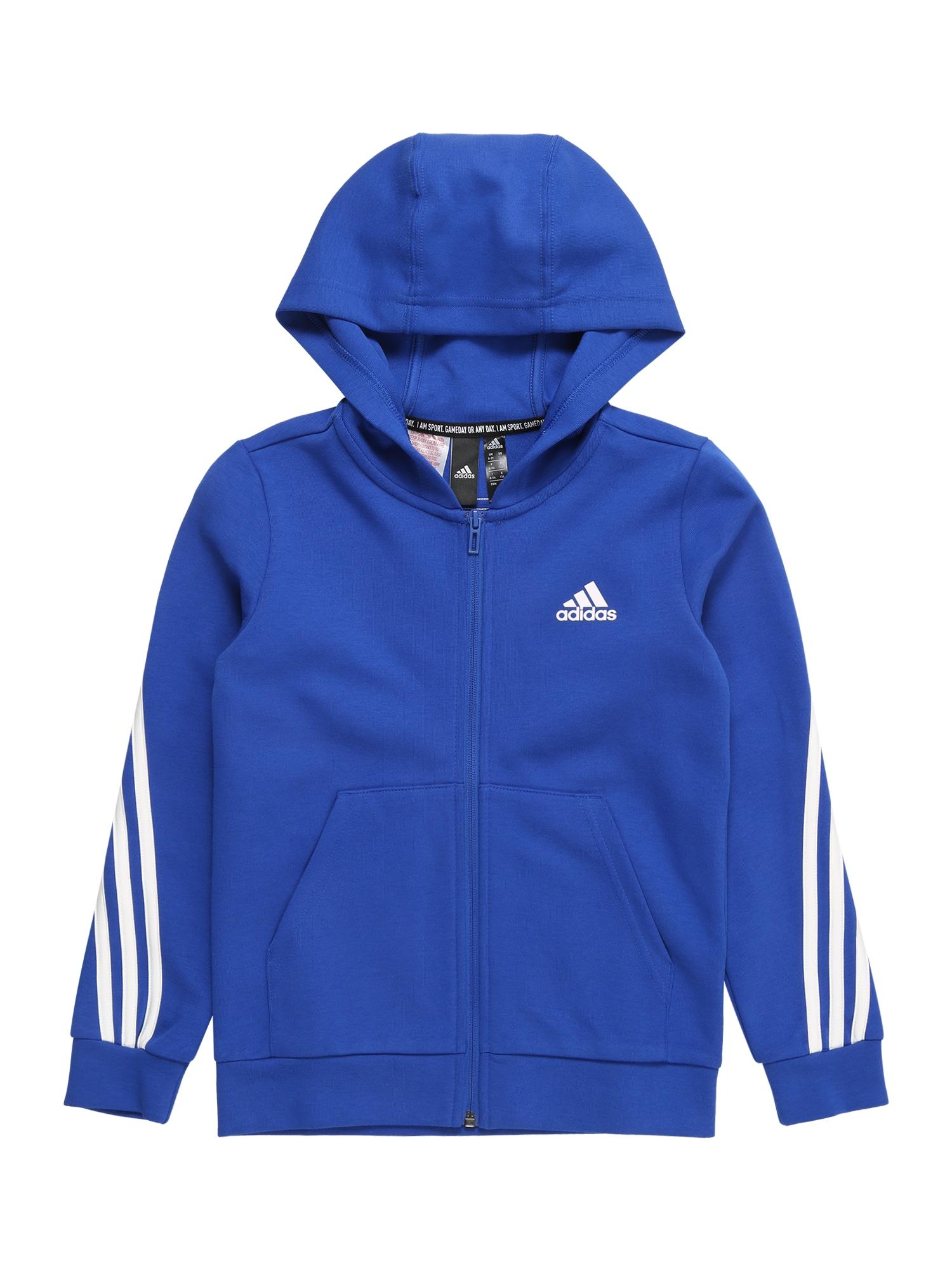 ADIDAS PERFORMANCE Sportinis džemperis balta / mėlyna