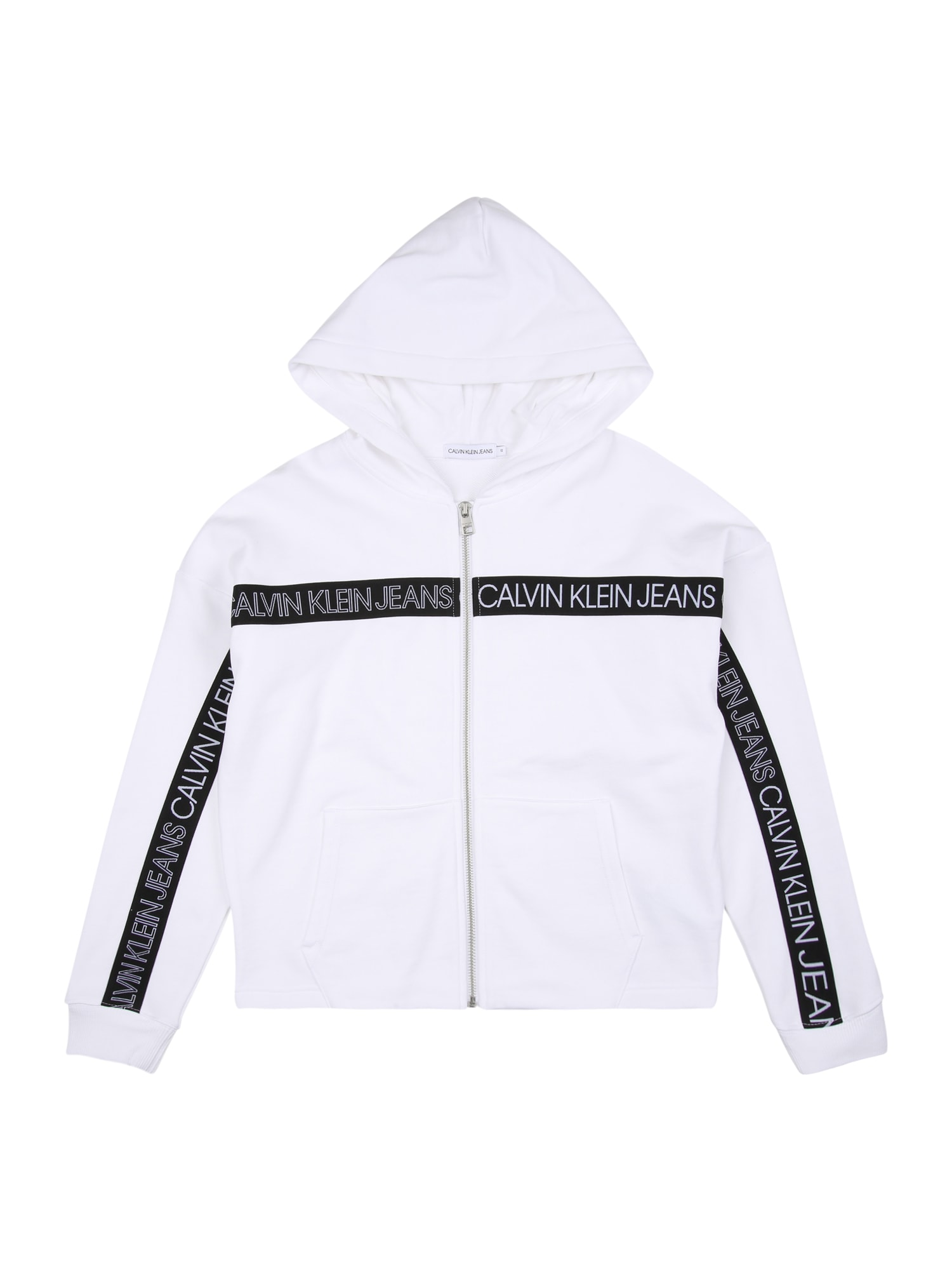 Calvin Klein Jeans Džemperis balta / juoda