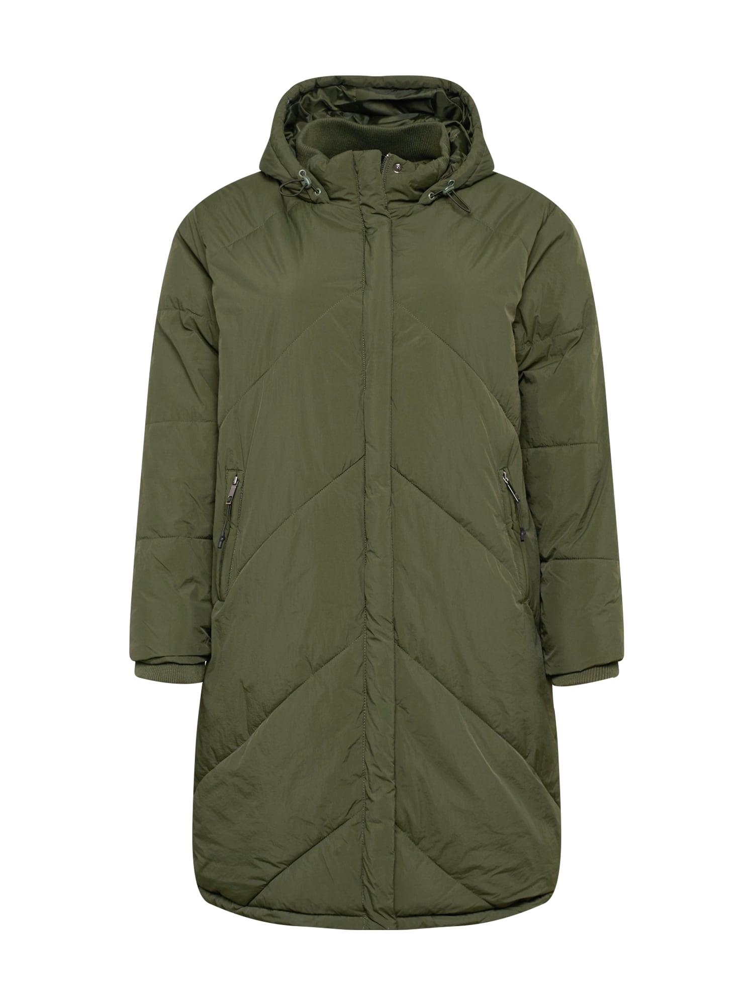 Cotton On Curve Demisezoninis paltas rusvai žalia