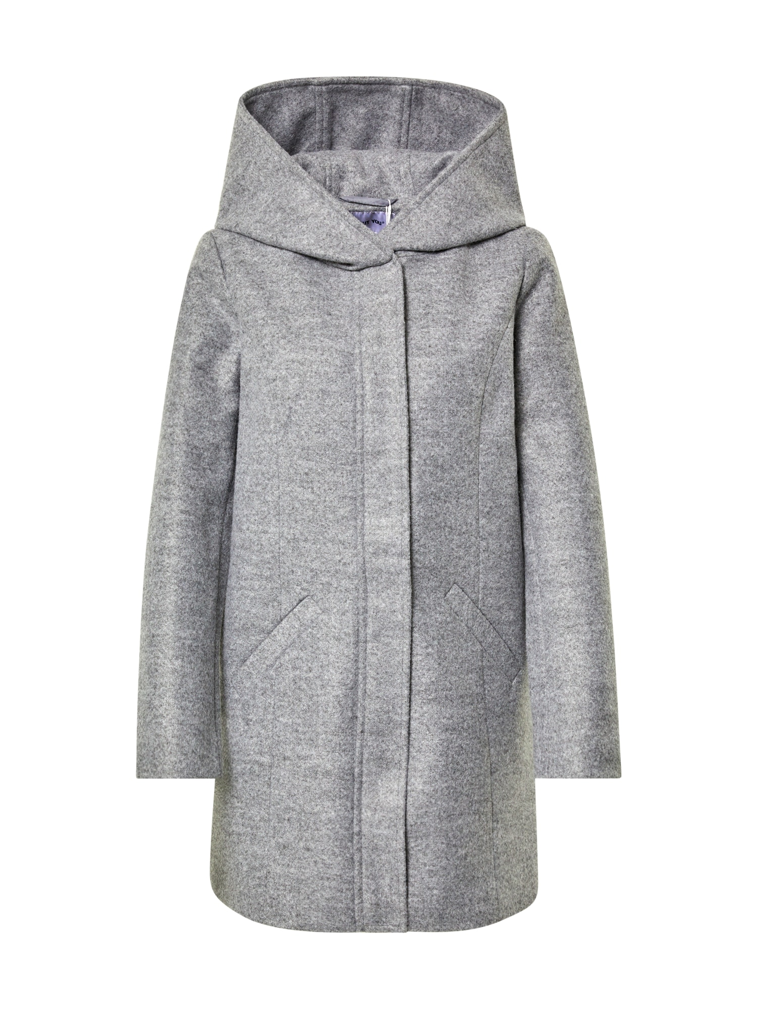 ABOUT YOU Demisezoninis paltas 'Marlene' margai pilka