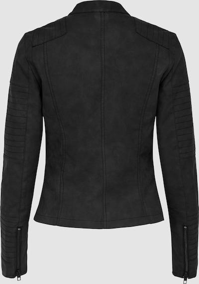 Übergangsjacke in Lederoptik von Only. Dank der leichten Used Efekten und der Nähte entsteht ein relaxter Biker Look. Die Zipper an den Ärmelenden und das kragenlose Design unterstützen den coolen Look der toughen Bikerjacke. Lässt sich zu fast allen Styles lässig kombinieren.