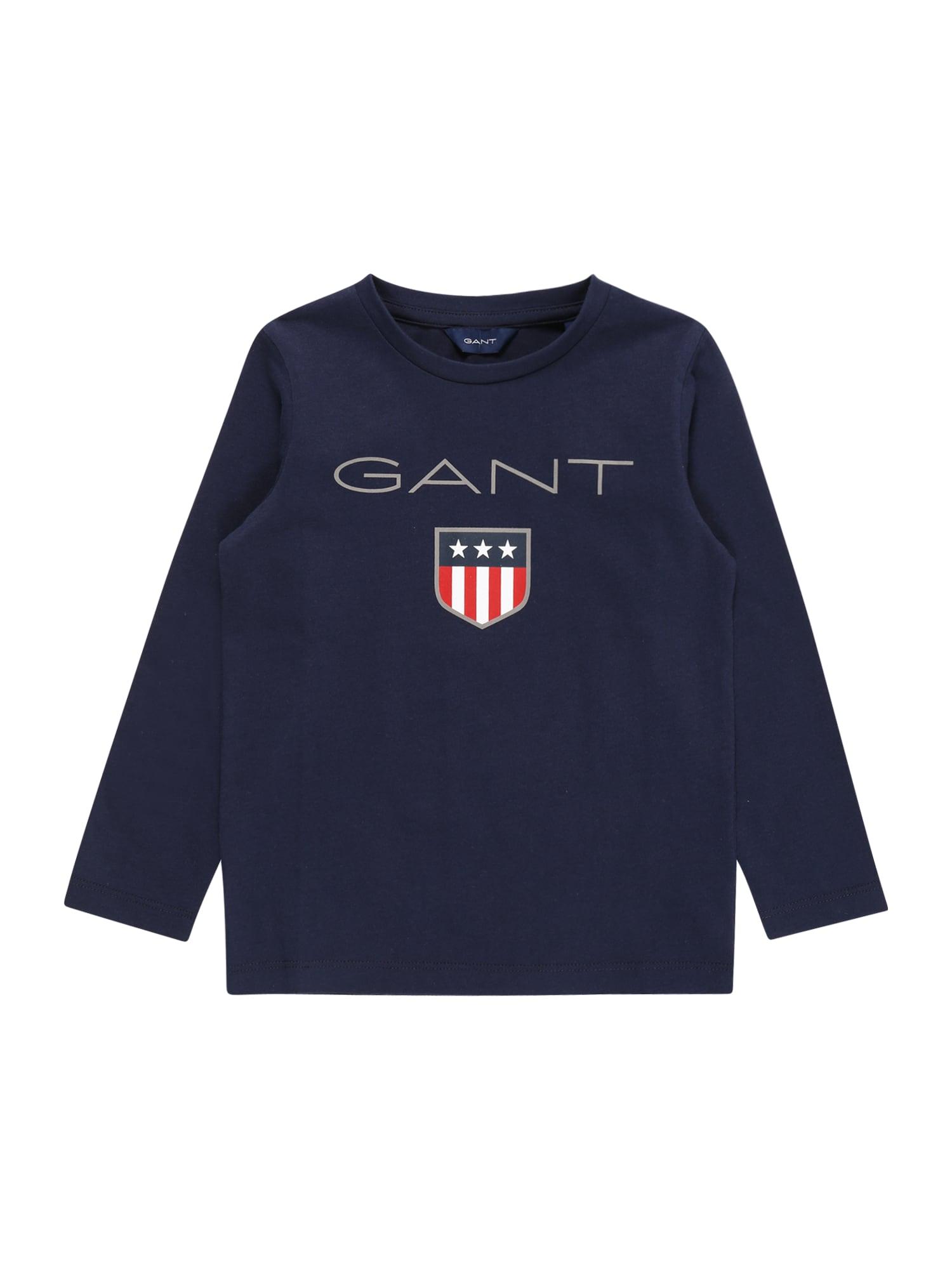 GANT Marškinėliai 'GANT SHIELD' tamsiai mėlyna