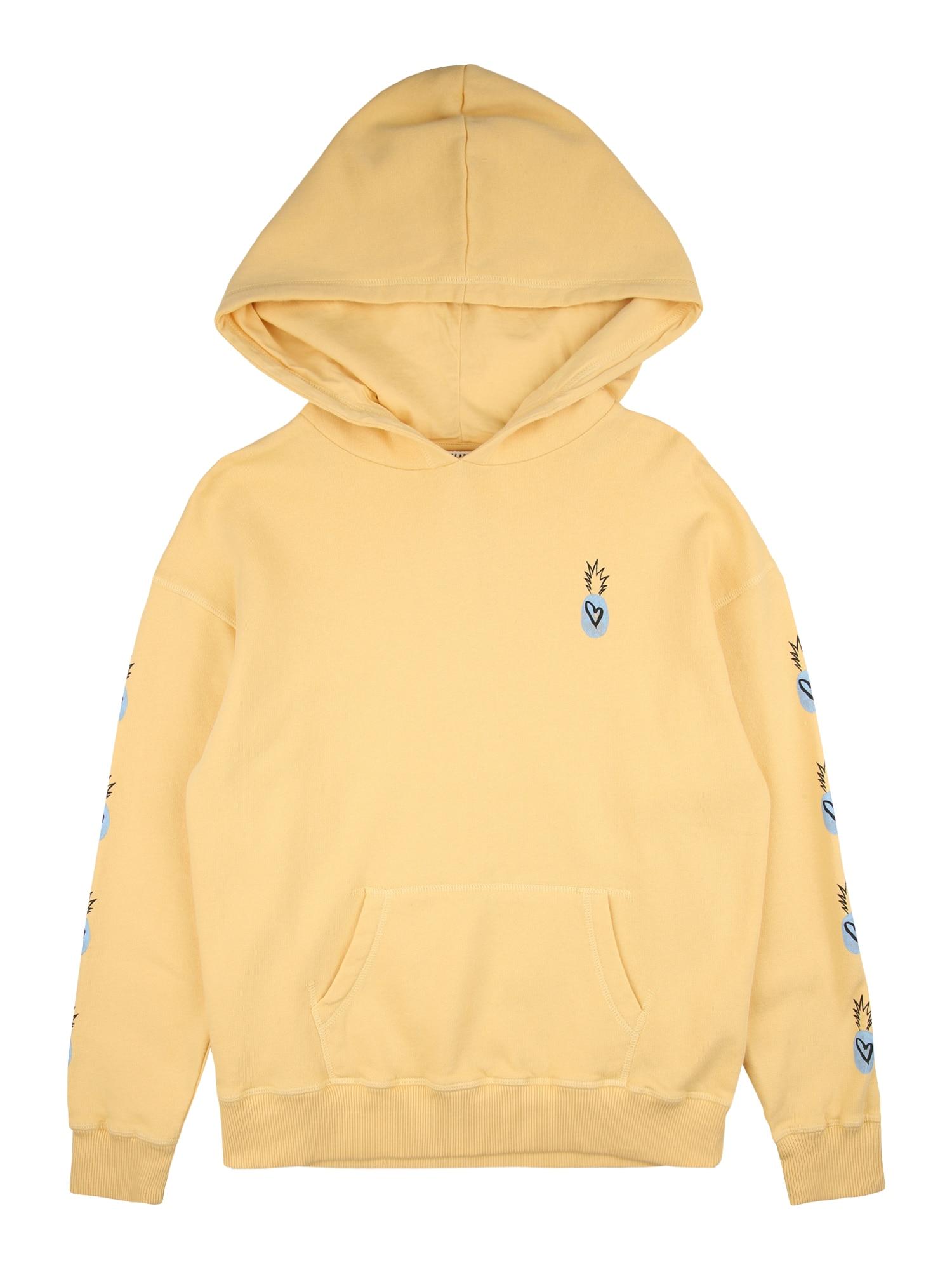 BILLABONG Sportinio tipo megztinis 'RAINBOW' geltona / šviesiai mėlyna / juoda