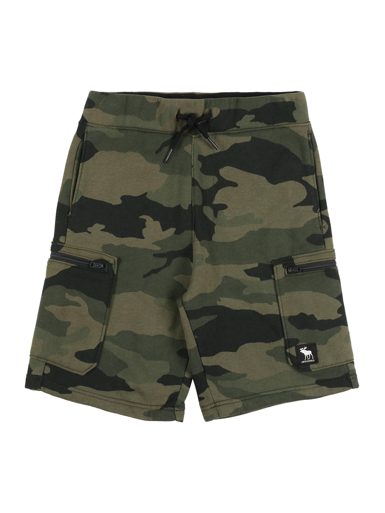 Abercrombie & Fitch Kelnės 'UTILITY' rusvai žalia / įdegio spalva / alyvuogių spalva