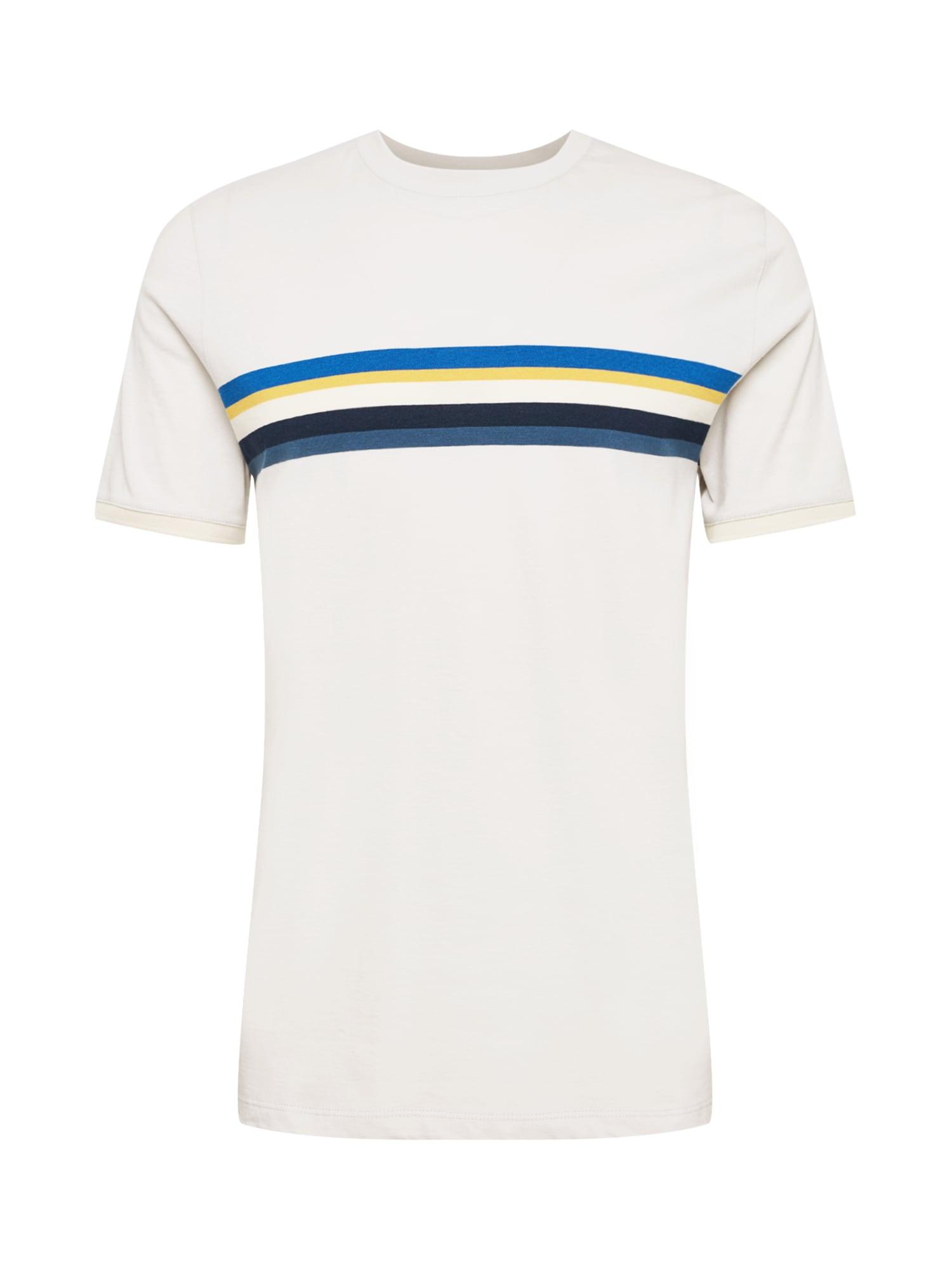 Ted Baker Marškinėliai balta / mėlyna / tamsiai mėlyna / tamsiai mėlyna jūros spalva / geltona