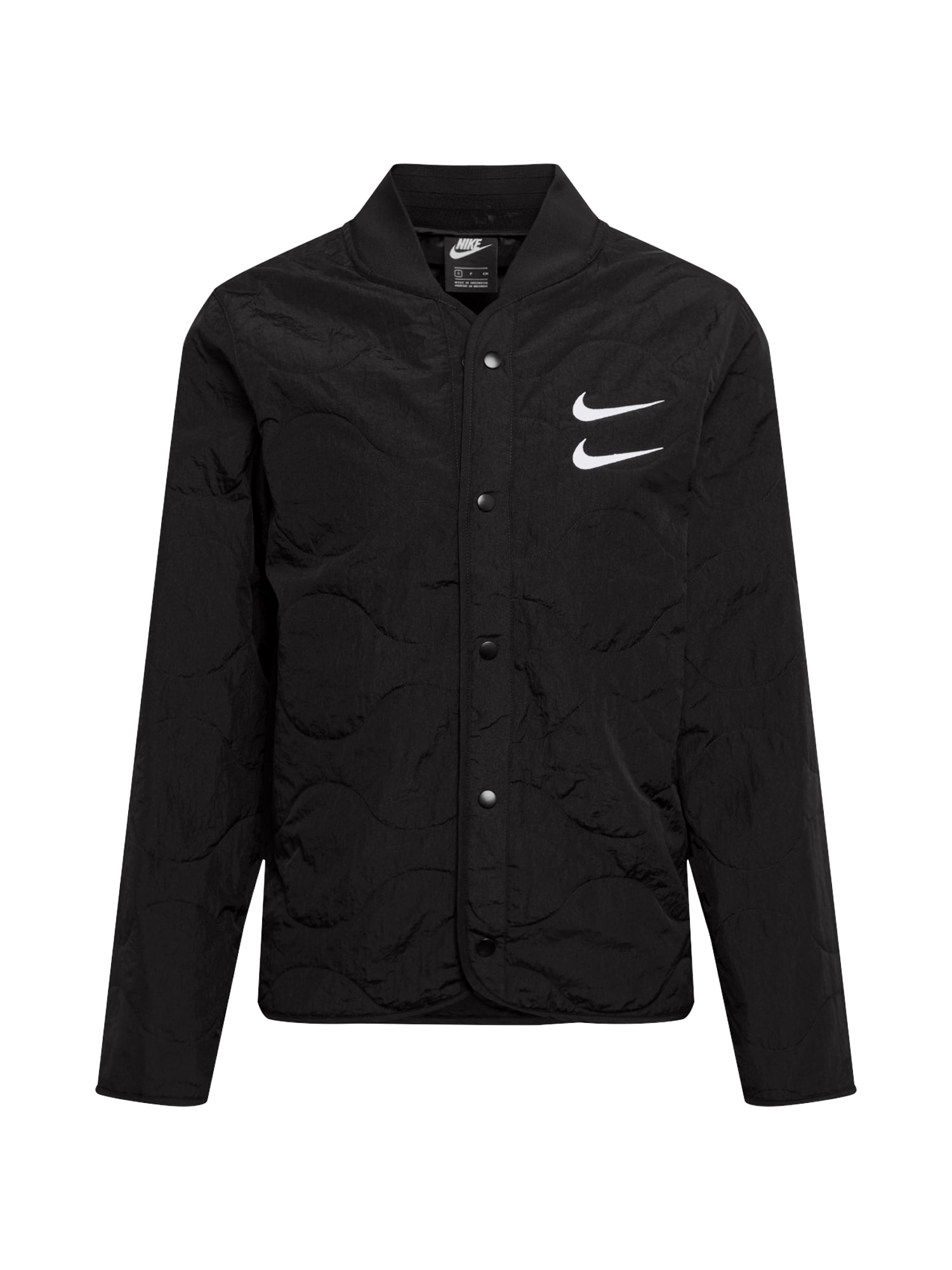 Nike Sportswear Demisezoninė striukė juoda / balta