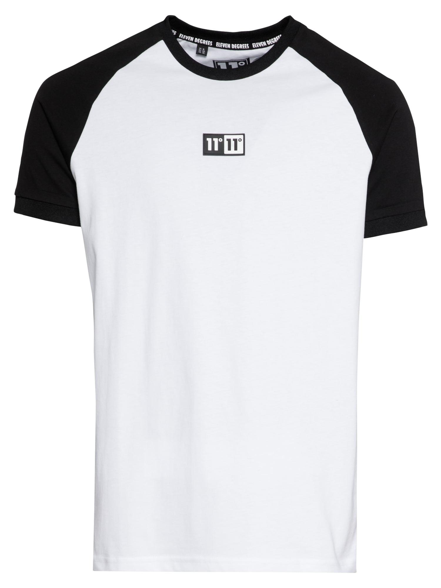 11 Degrees Marškinėliai 'ONYX RINGER ' balta / juoda