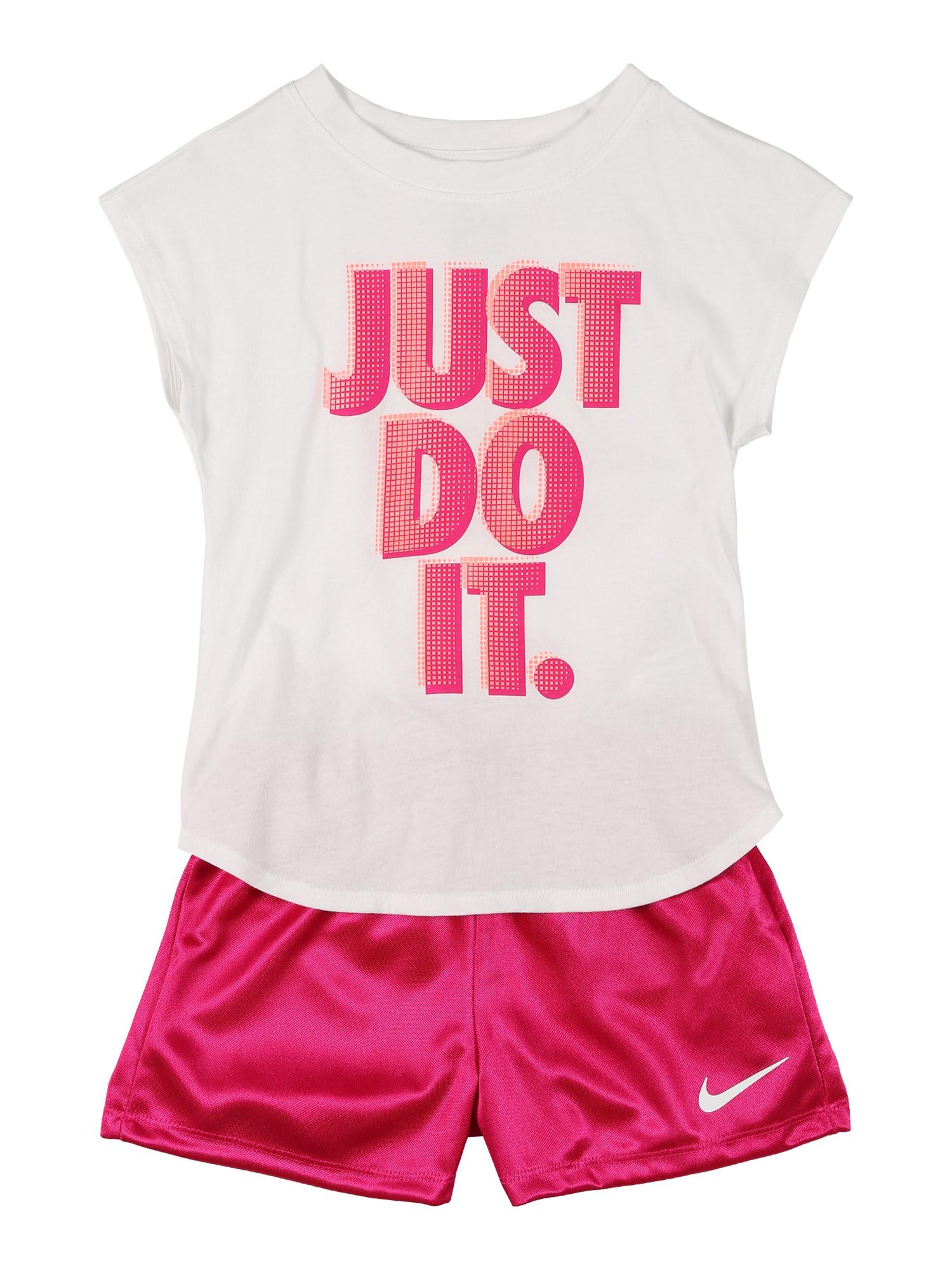 Nike Sportswear Rinkinys 'DAZZLE' balta / fuksijų spalva