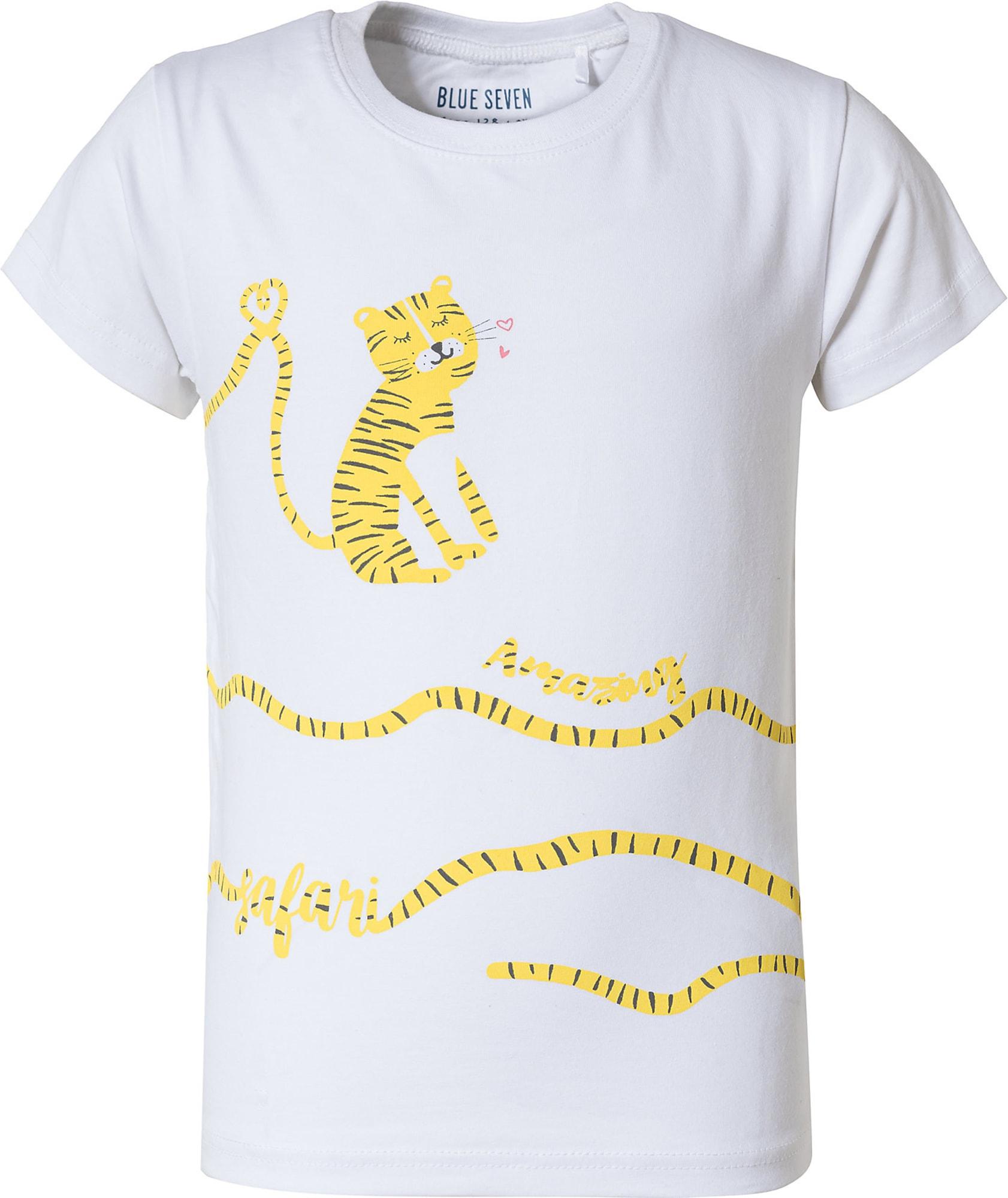 BLUE SEVEN Marškinėliai balta / geltona / juoda