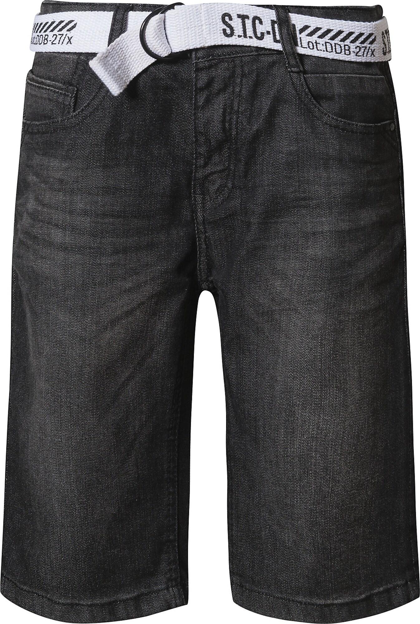 STACCATO Džinsai juodo džinso spalva / balta