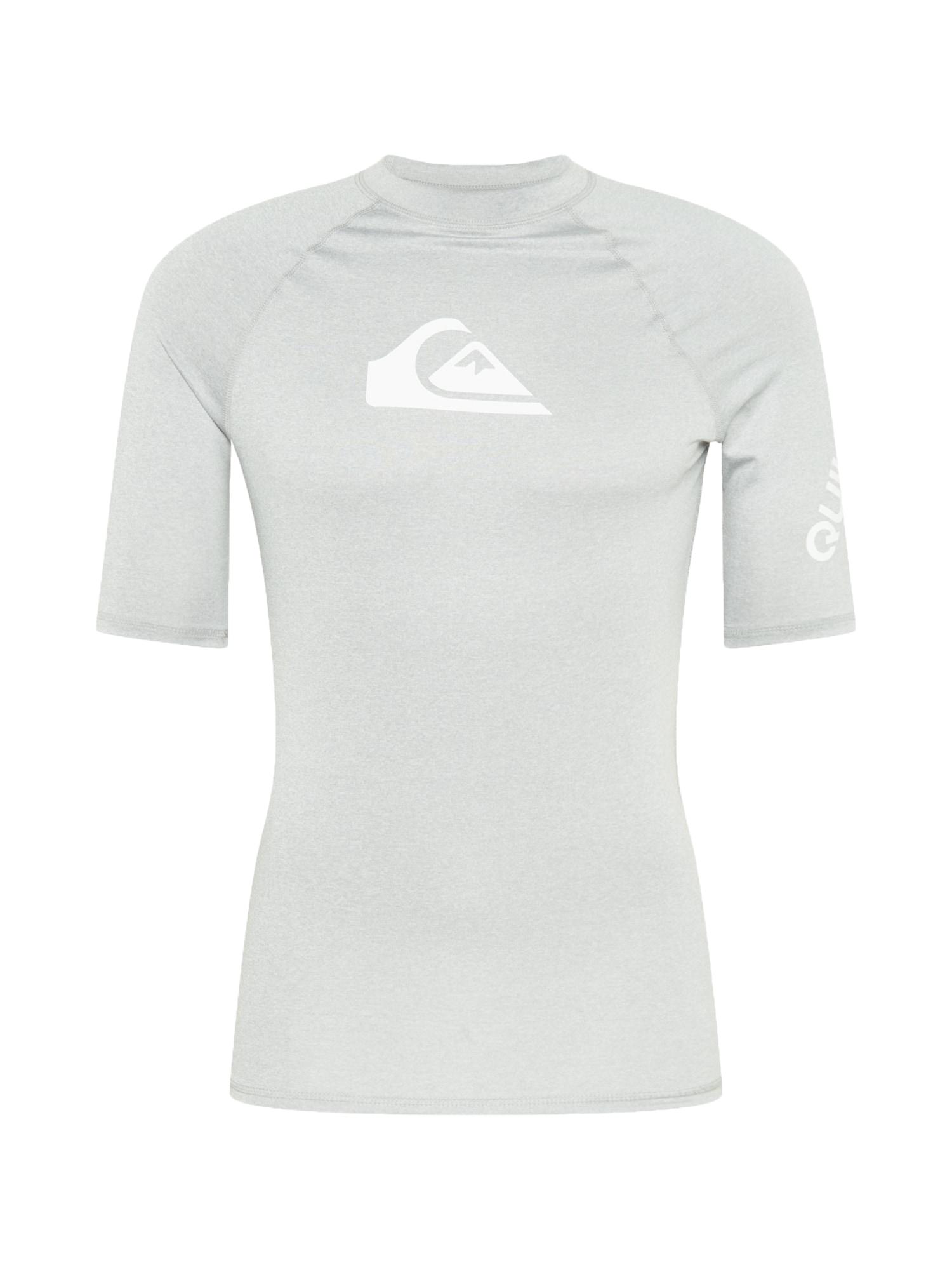 QUIKSILVER Funkční tričko 'ALL TIME'  světle šedá / bílá