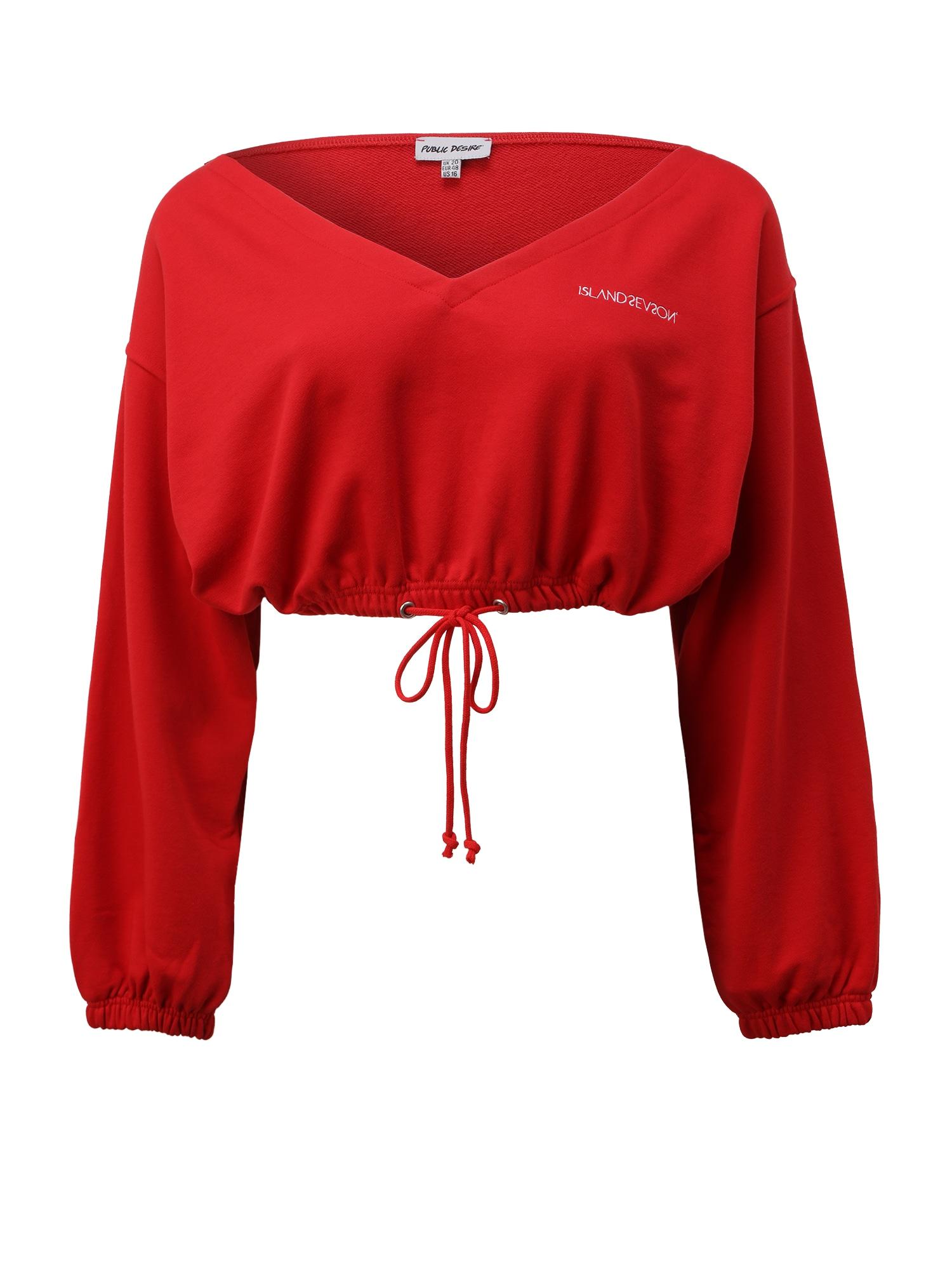 Public Desire Curve Marškinėliai raudona