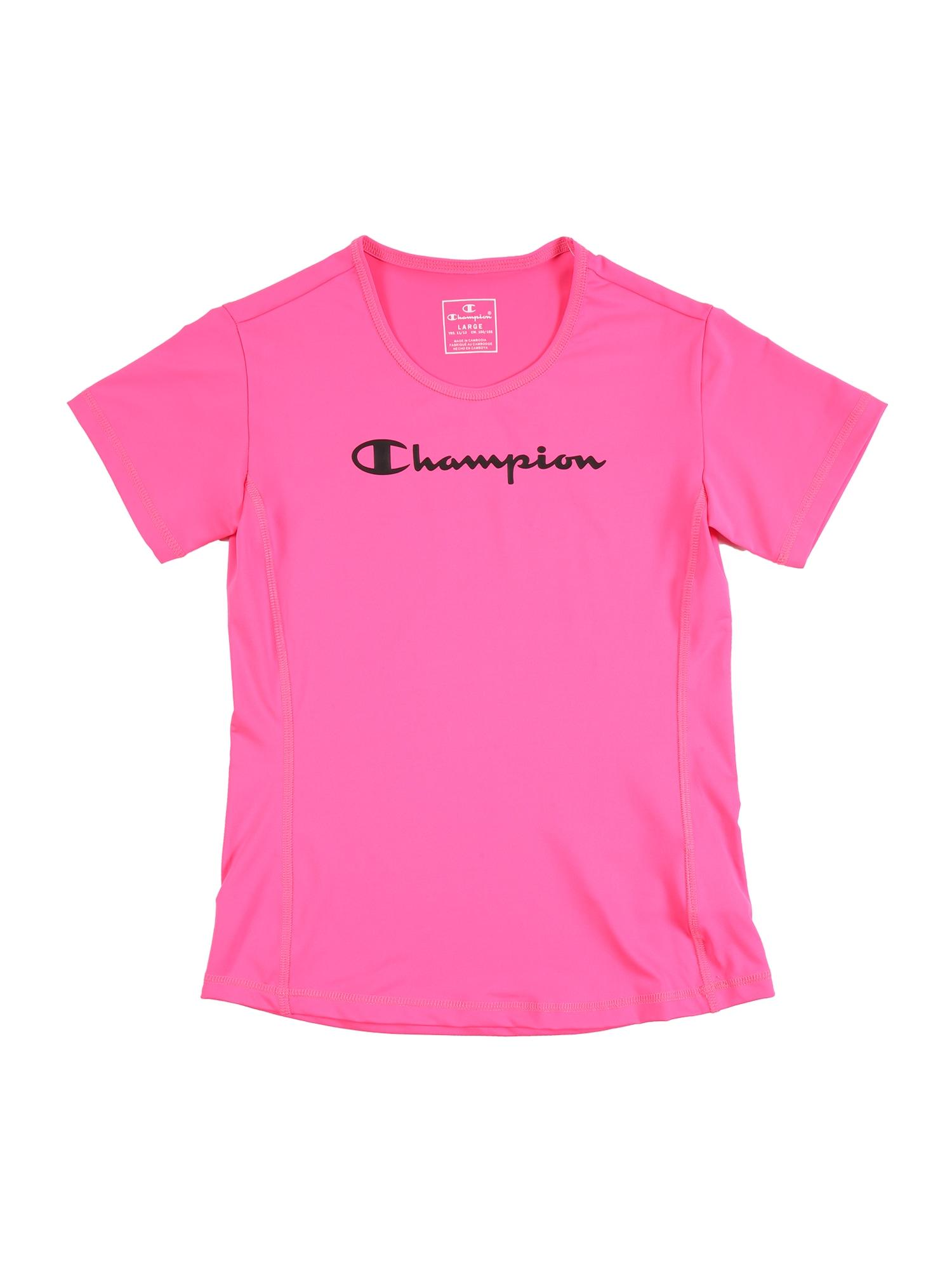Champion Authentic Athletic Apparel Marškinėliai rožinė / juoda