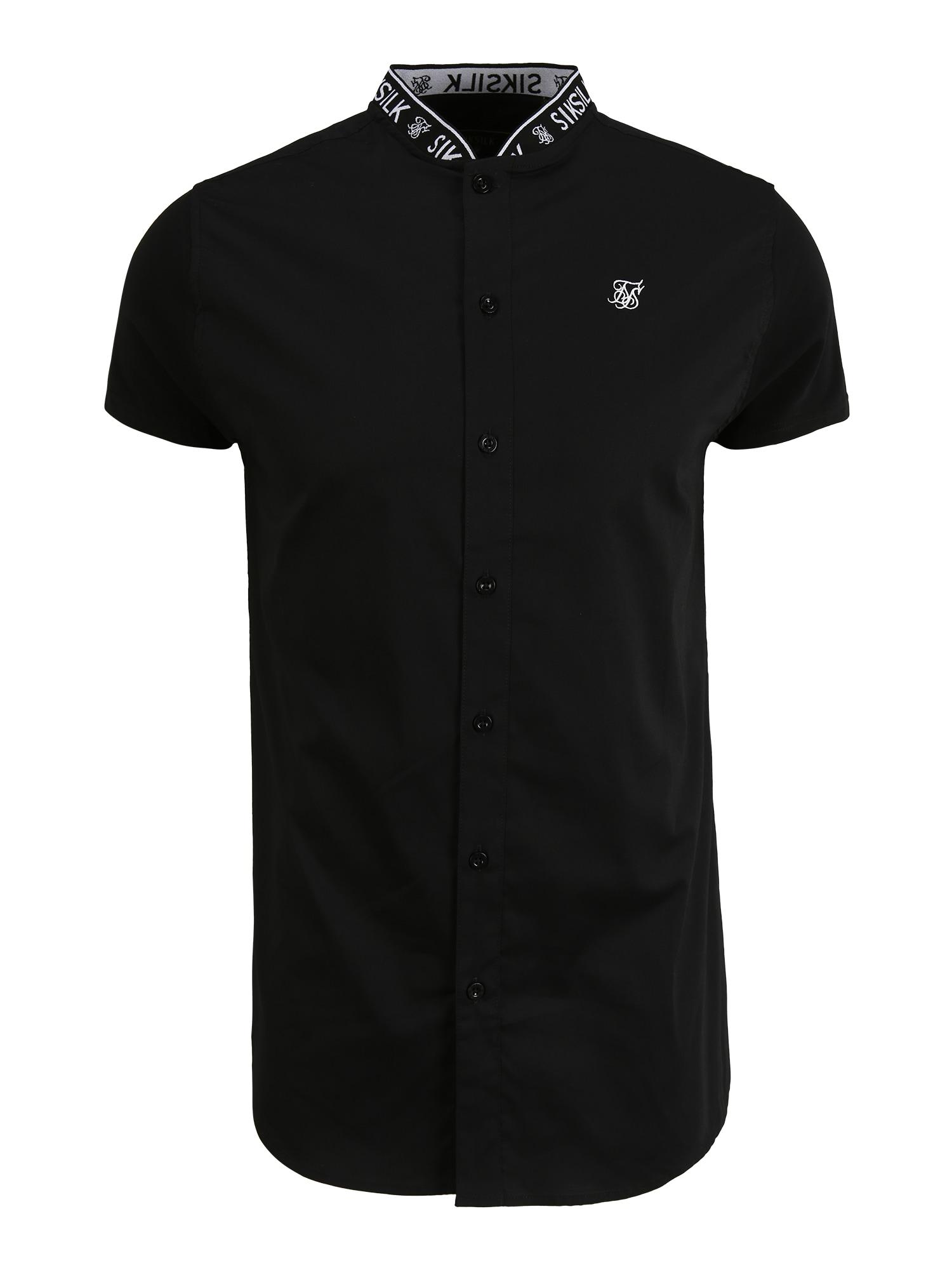SikSilk Marškiniai juoda / balta
