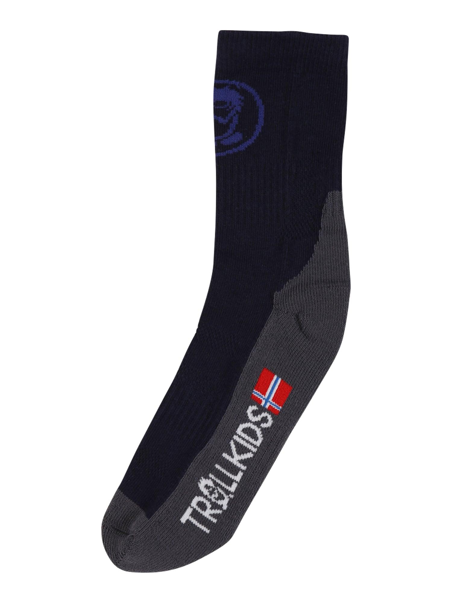TROLLKIDS Ponožky  námořnická modř / grafitová / bílá / světle červená