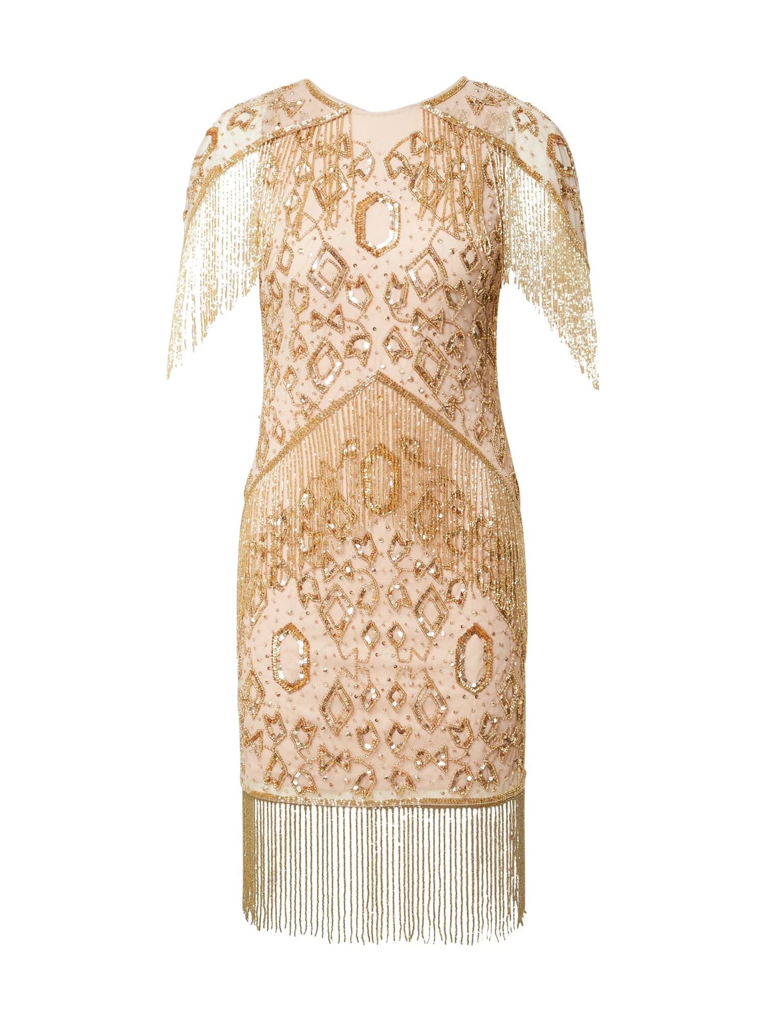 Frock and Frill Kokteilinė suknelė auksas / pudros spalva