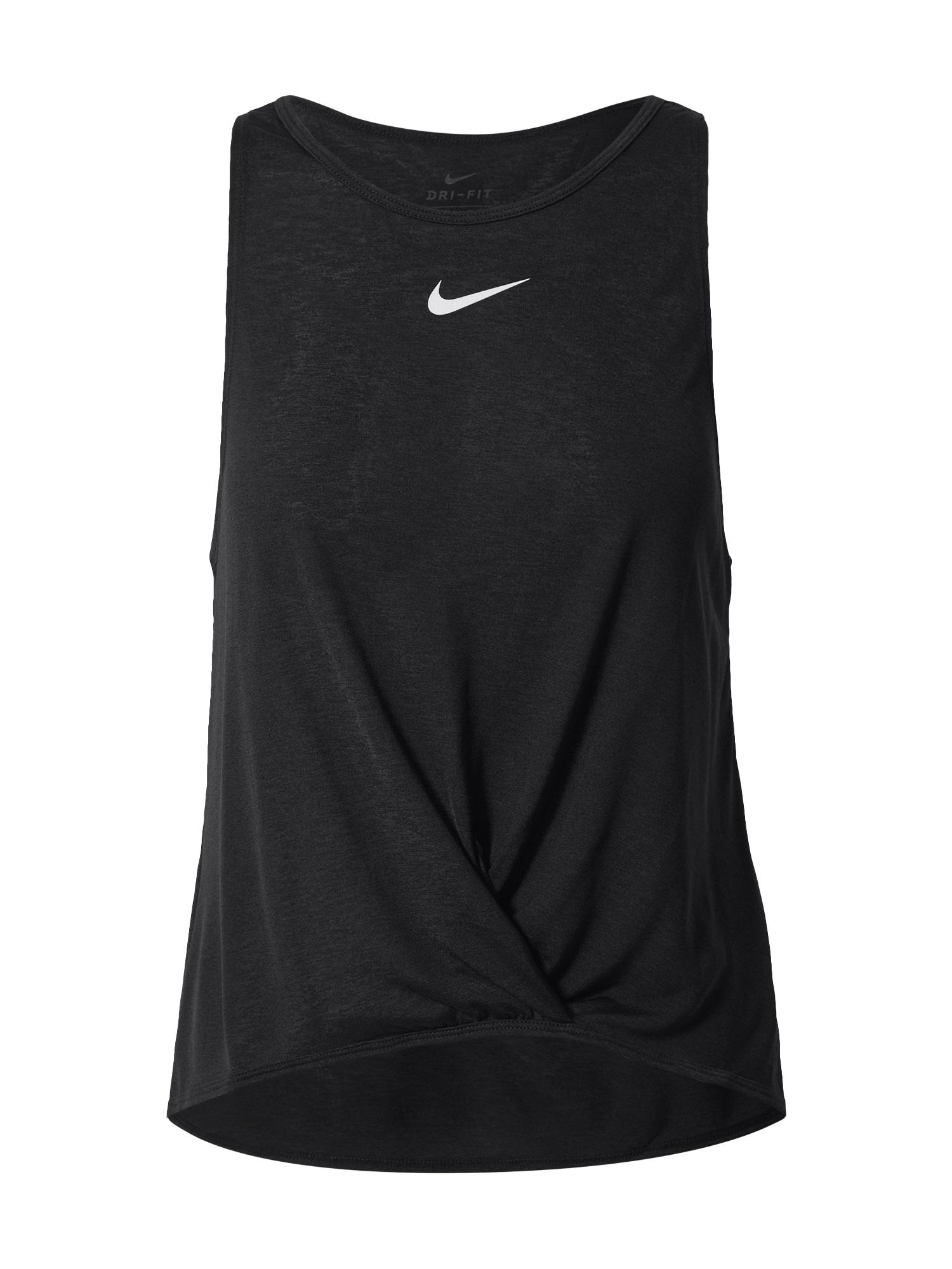 NIKE Sportiniai marškinėliai be rankovių juoda / balta / rožinė