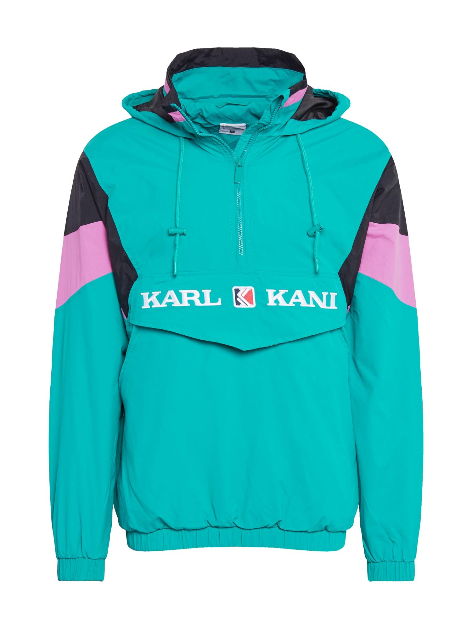 Karl Kani Přechodná bunda  fialová / tyrkysová / černá