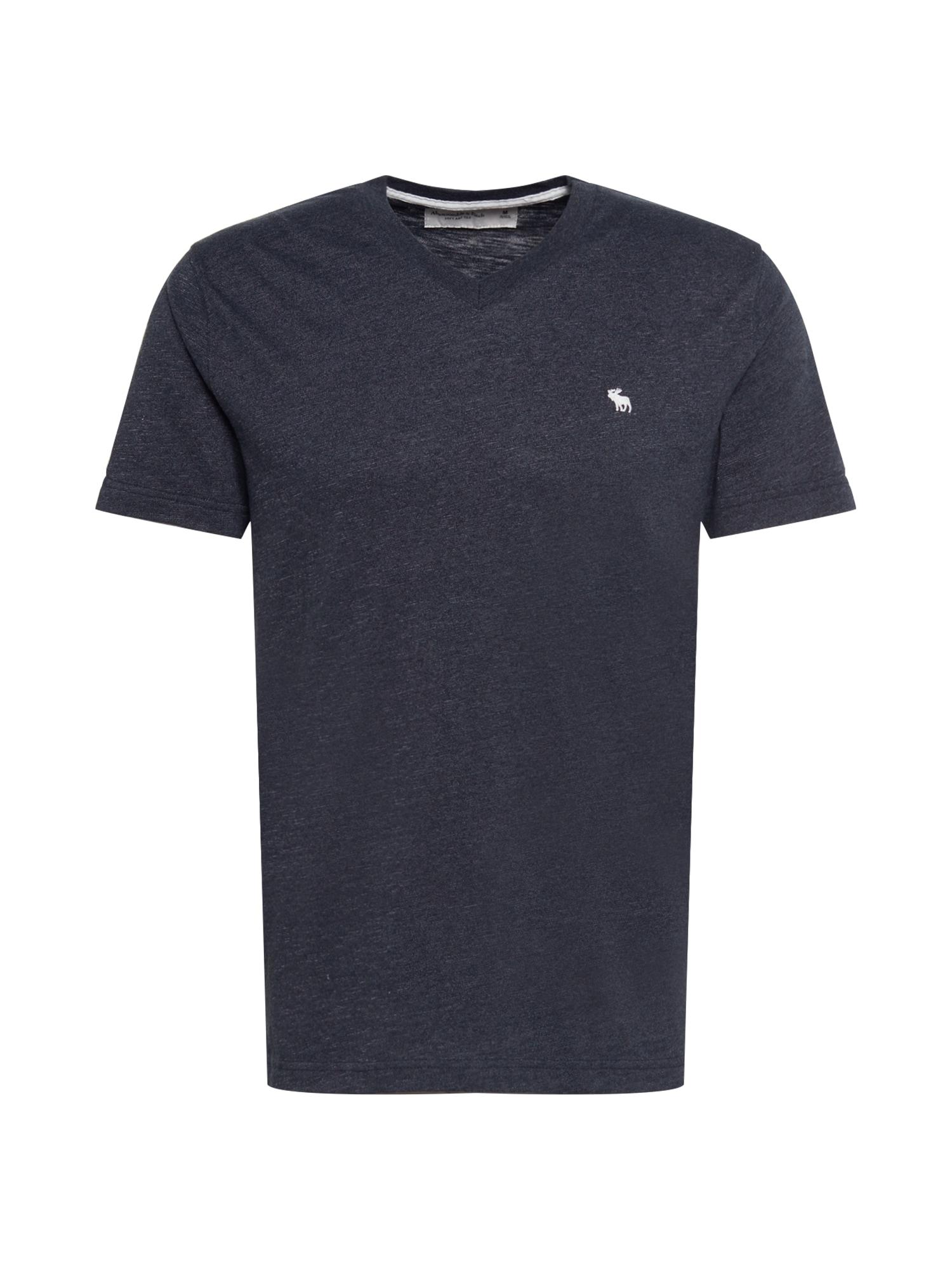 Abercrombie & Fitch Marškinėliai margai juoda / balta