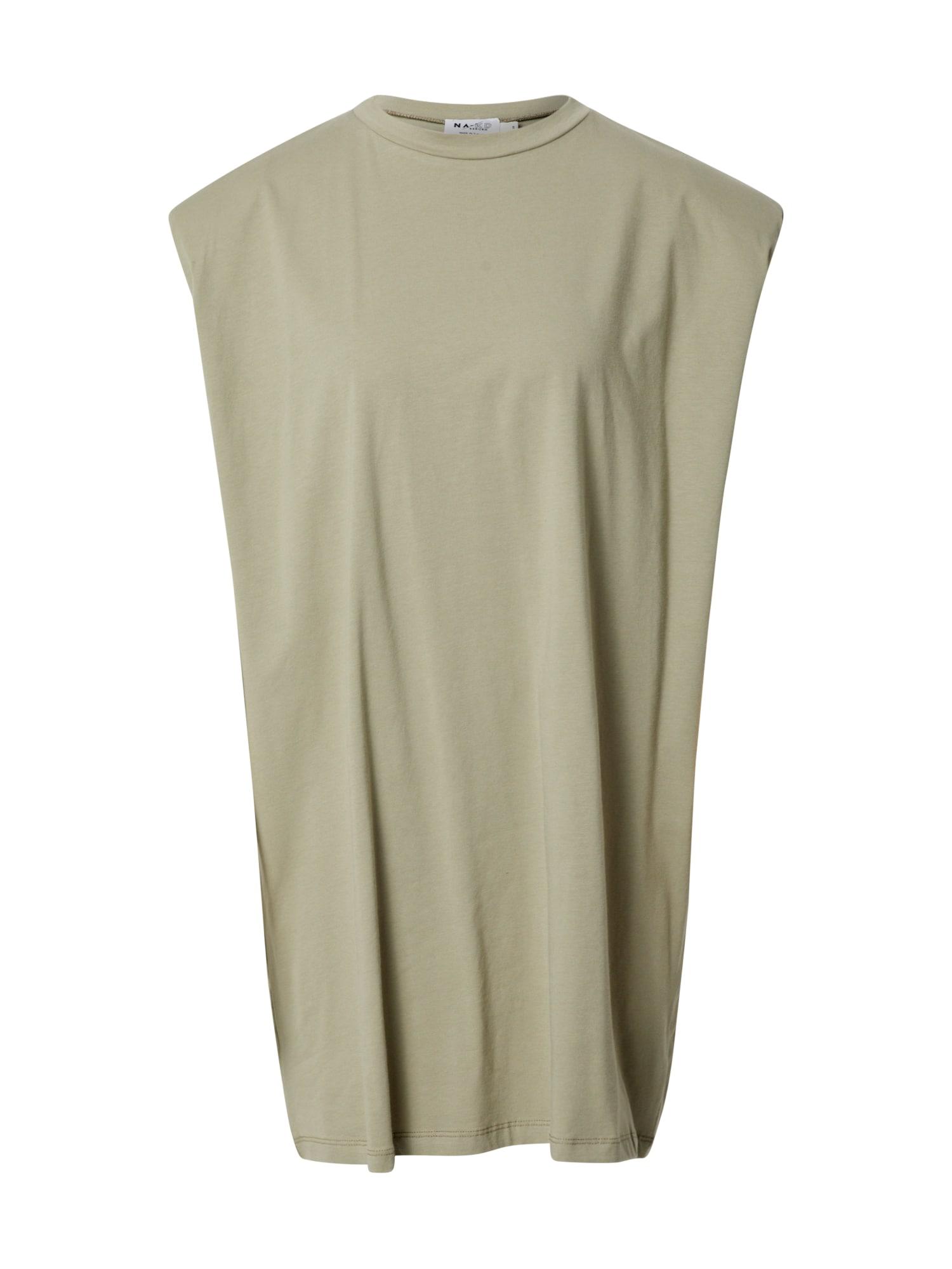 NA-KD Vasarinė suknelė rusvai žalia