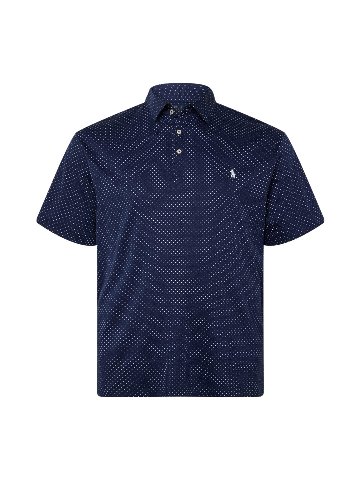 Polo Ralph Lauren Big & Tall Marškinėliai tamsiai mėlyna / balta