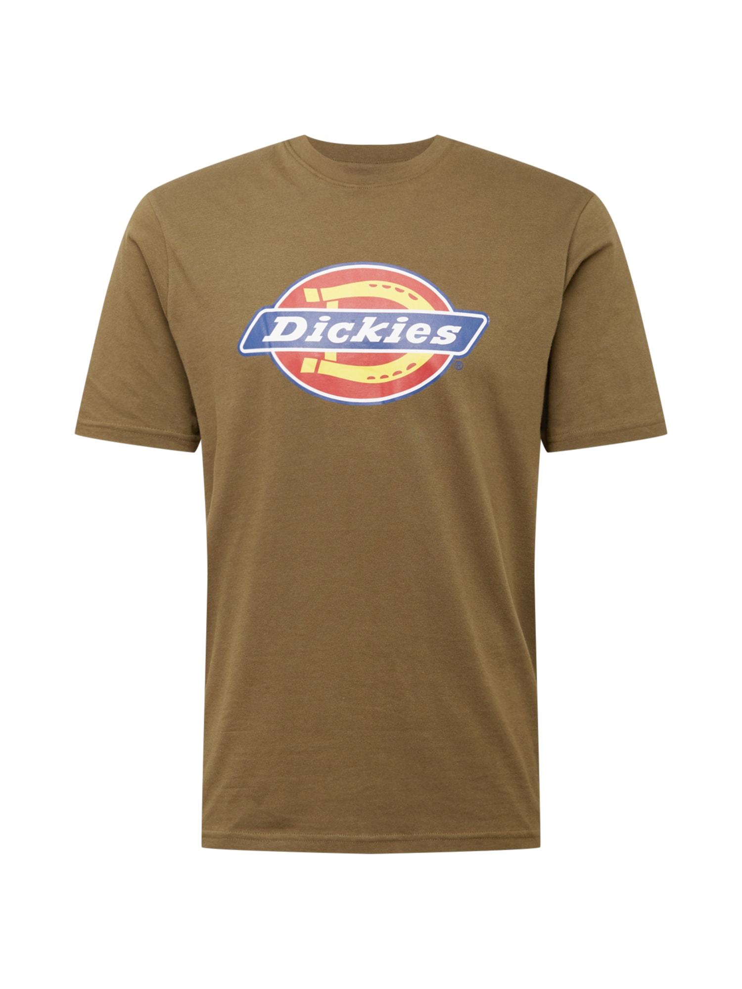 DICKIES Marškinėliai alyvuogių spalva / mėlyna / melionų spalva / geltona / balta