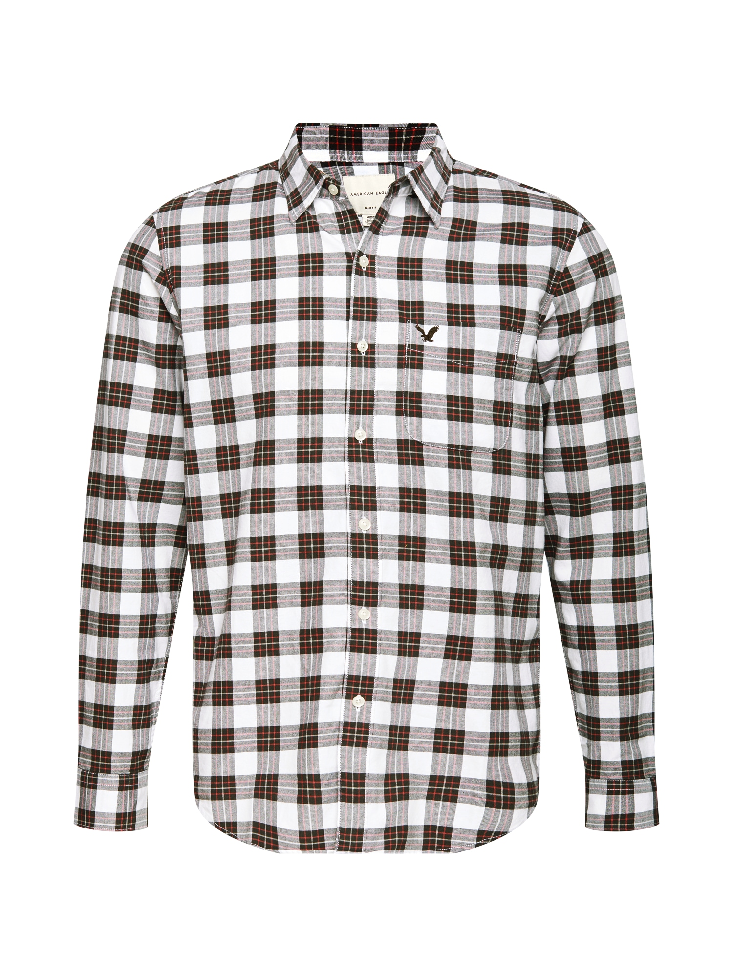 American Eagle Košile  černá / bílá
