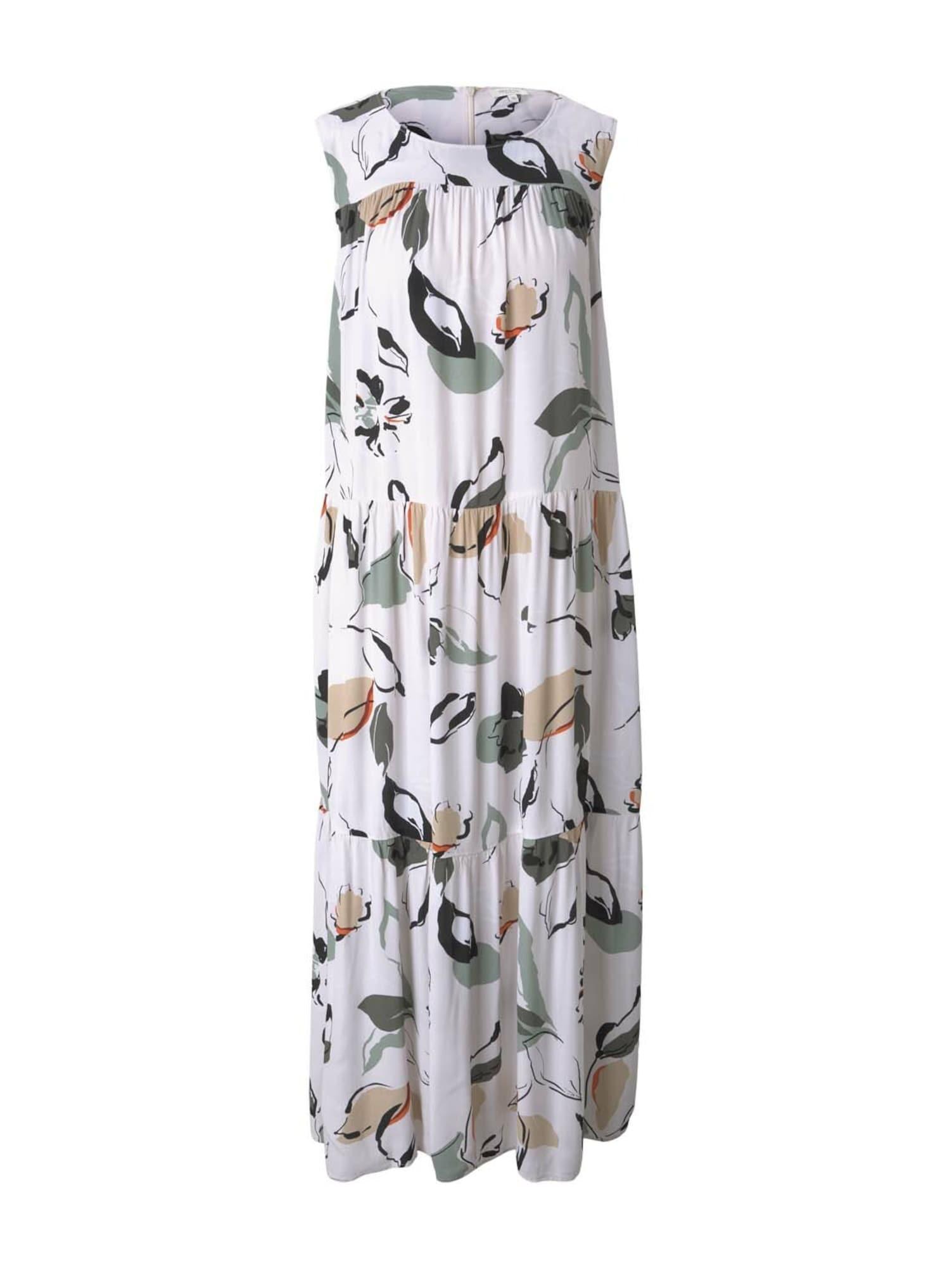 MINE TO FIVE Suknelė balta / tamsiai žalia / smėlio spalva / oranžinė / nefrito spalva