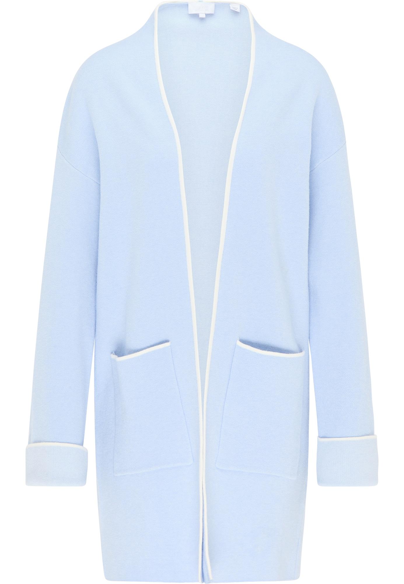 usha WHITE LABEL Ilgas kardiganas balta / šviesiai mėlyna