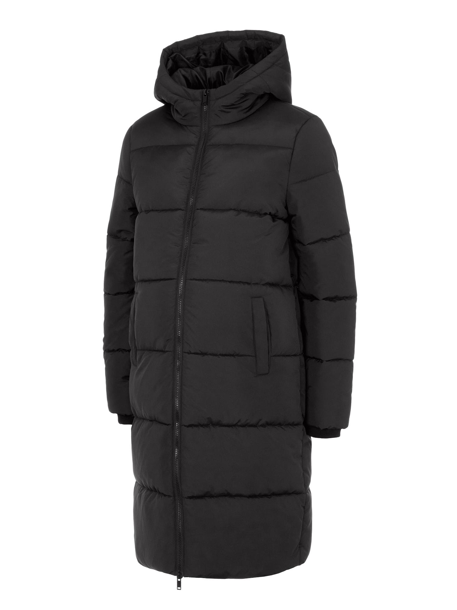 Pieces Maternity Zimní kabát 'Bee'  černá