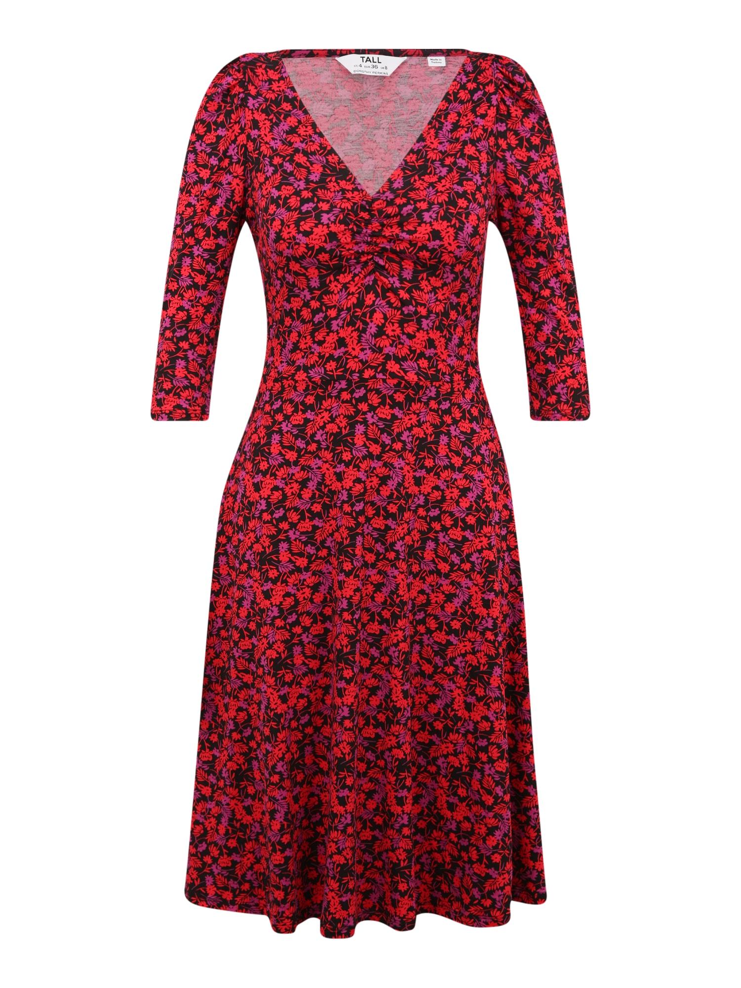 Dorothy Perkins (Tall) Suknelė juoda / raudona / purpurinė