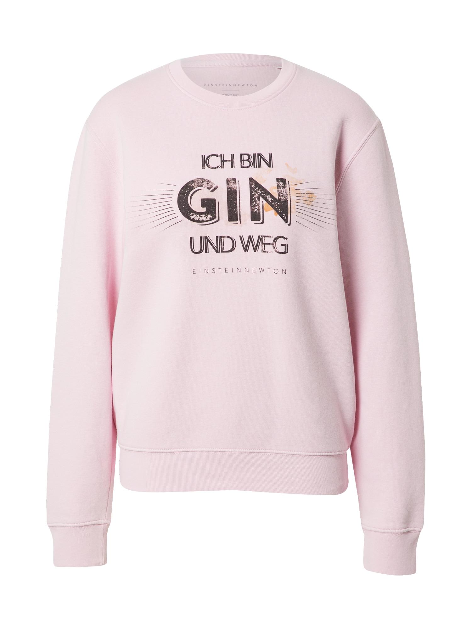 EINSTEIN & NEWTON Megztinis be užsegimo 'Gin Weg Klara Geist' rožių spalva / juoda