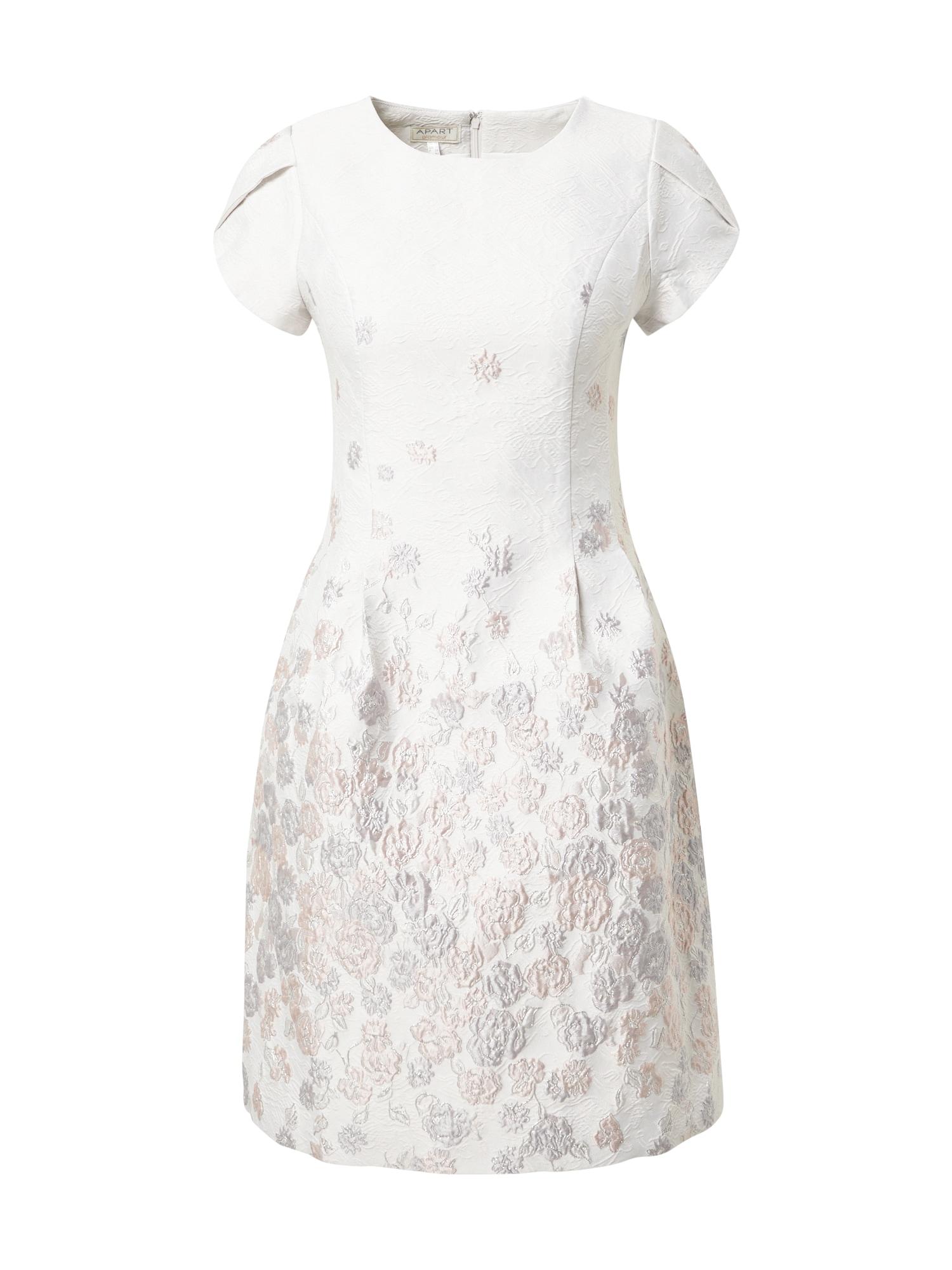 APART Kokteilinė suknelė kremo / rožinė