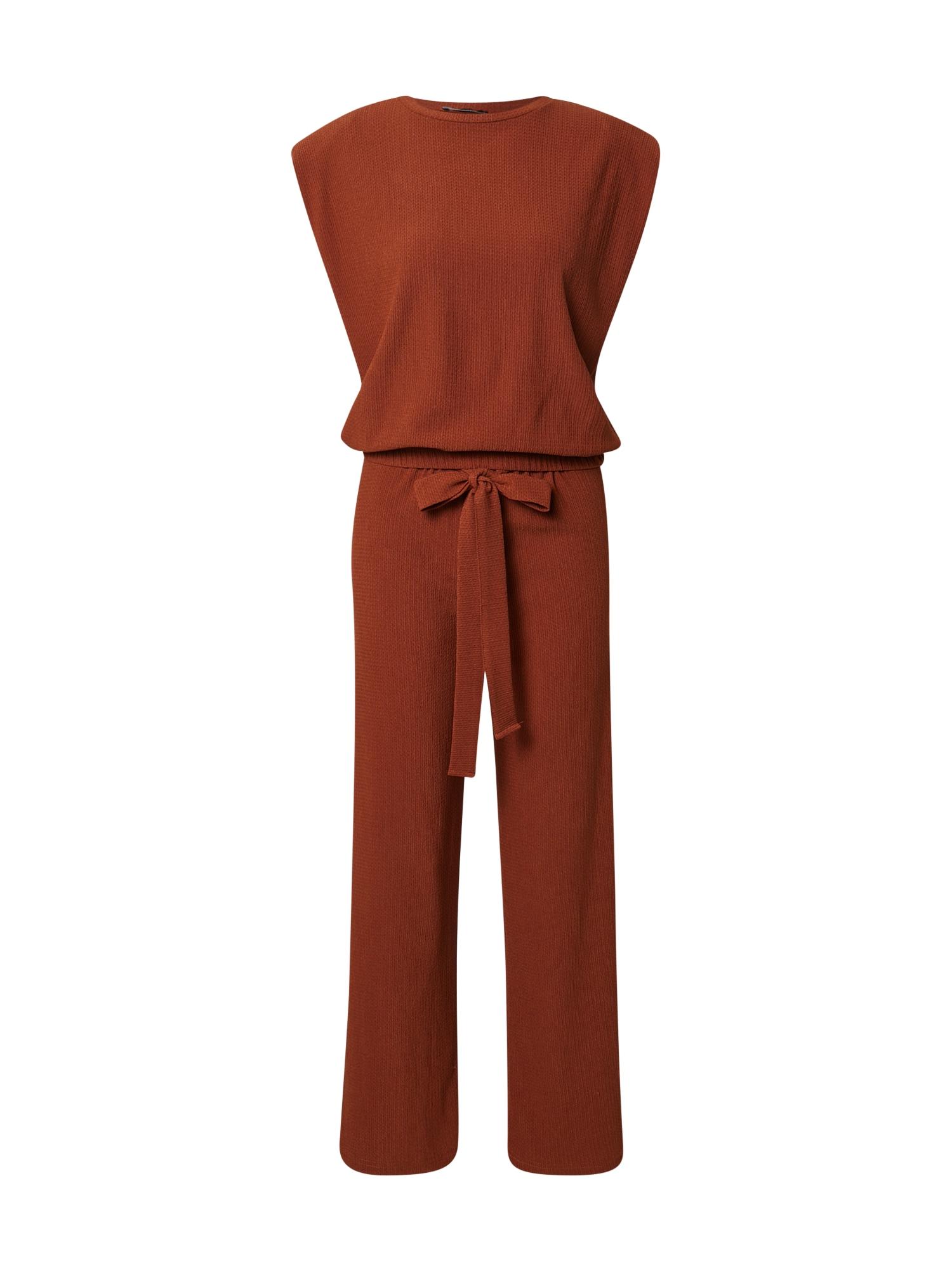 Trendyol Moteriškas kostiumėlis su kelnėmis karamelės