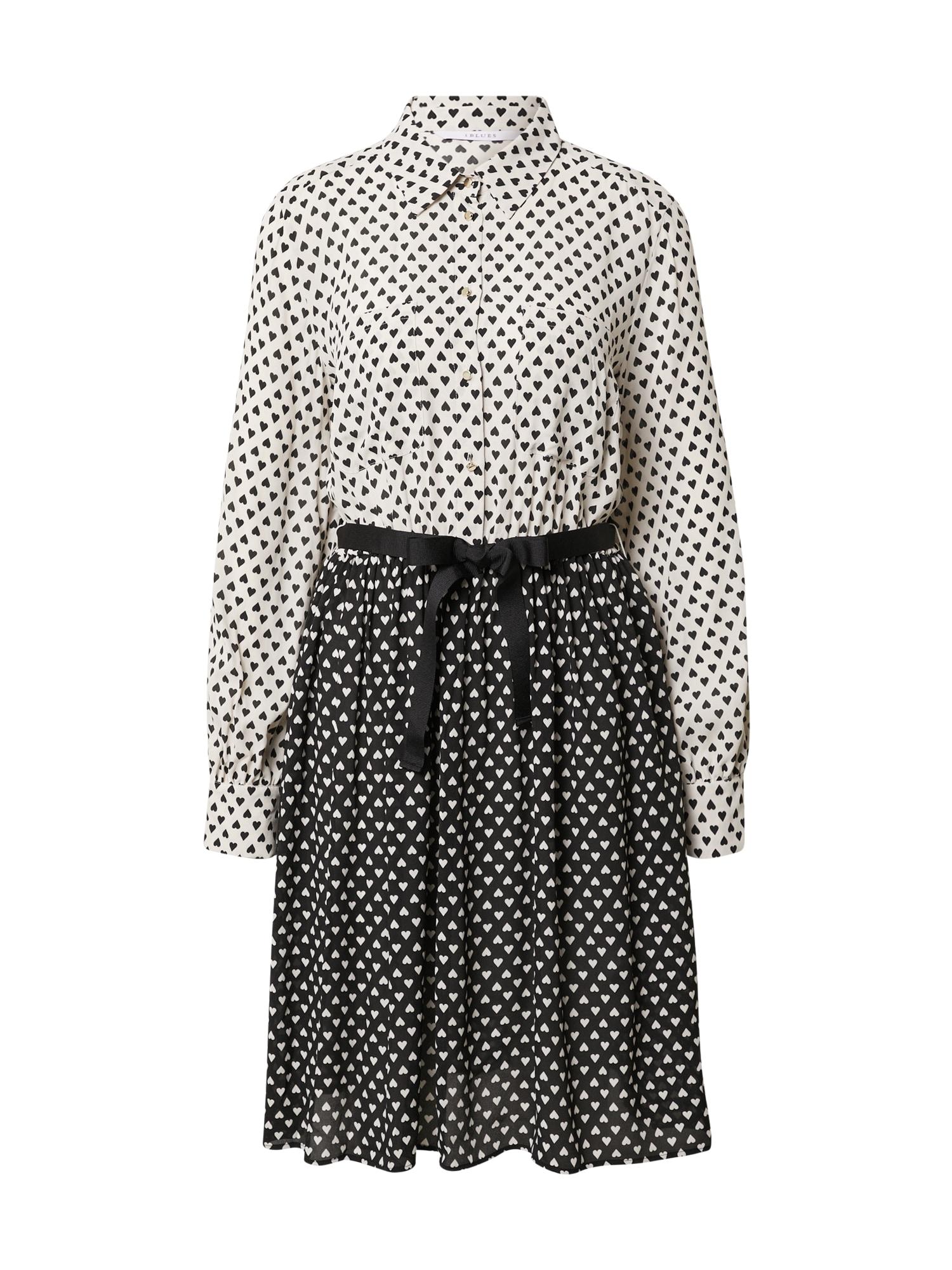 iBlues Palaidinės tipo suknelė juoda / balta