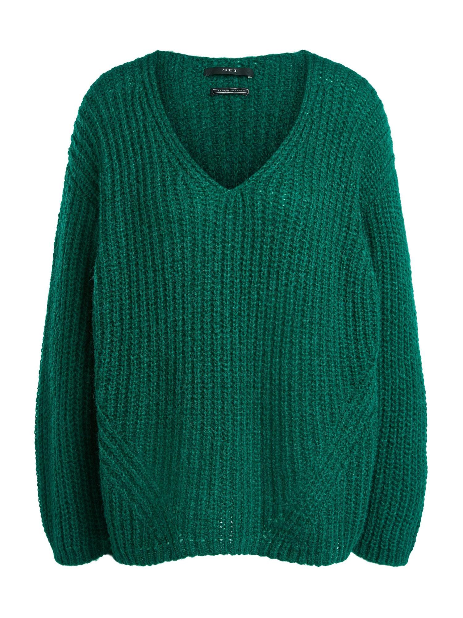 SET Laisvas megztinis benzino spalva