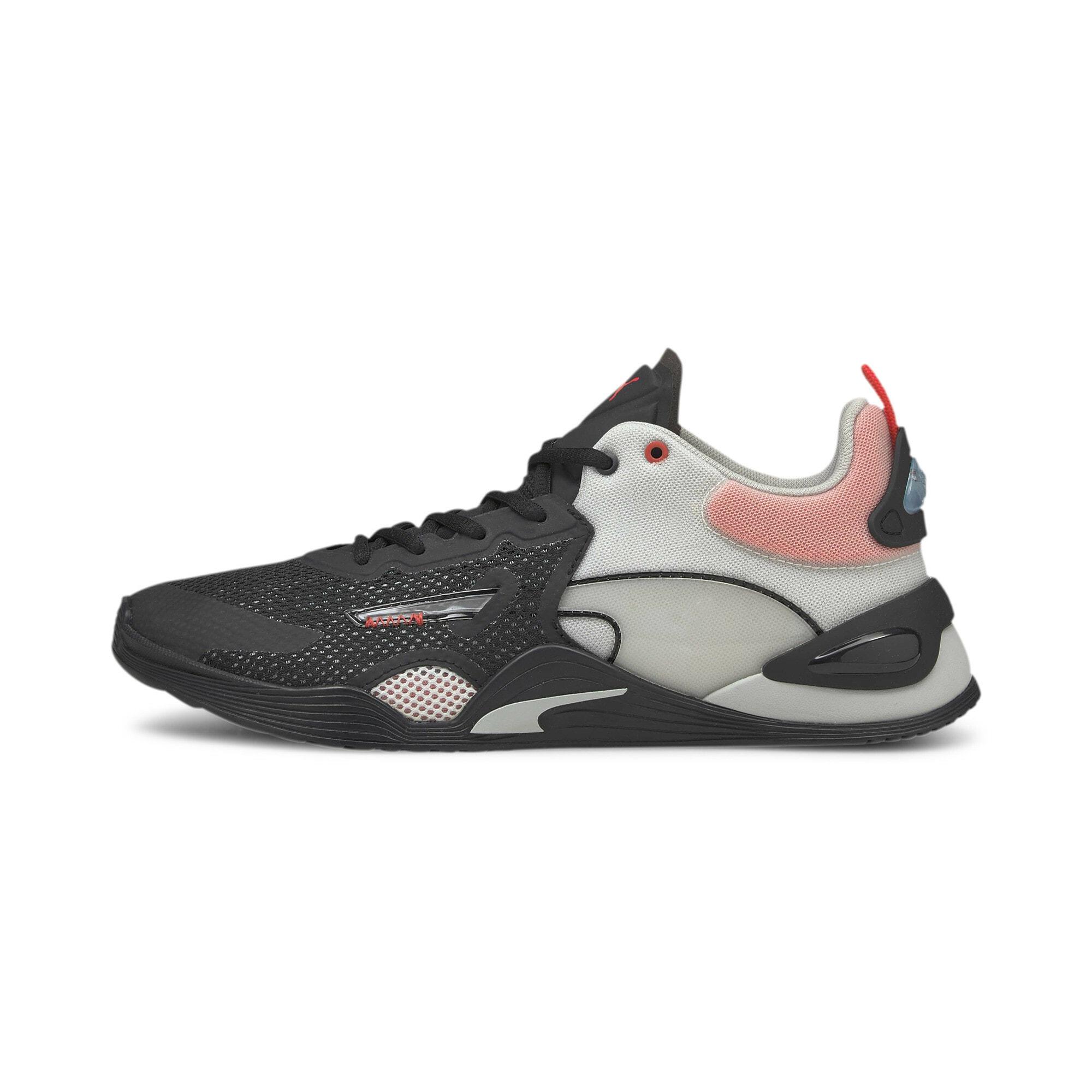 PUMA Sportiniai batai juoda / šviesiai pilka / ryškiai rožinė spalva