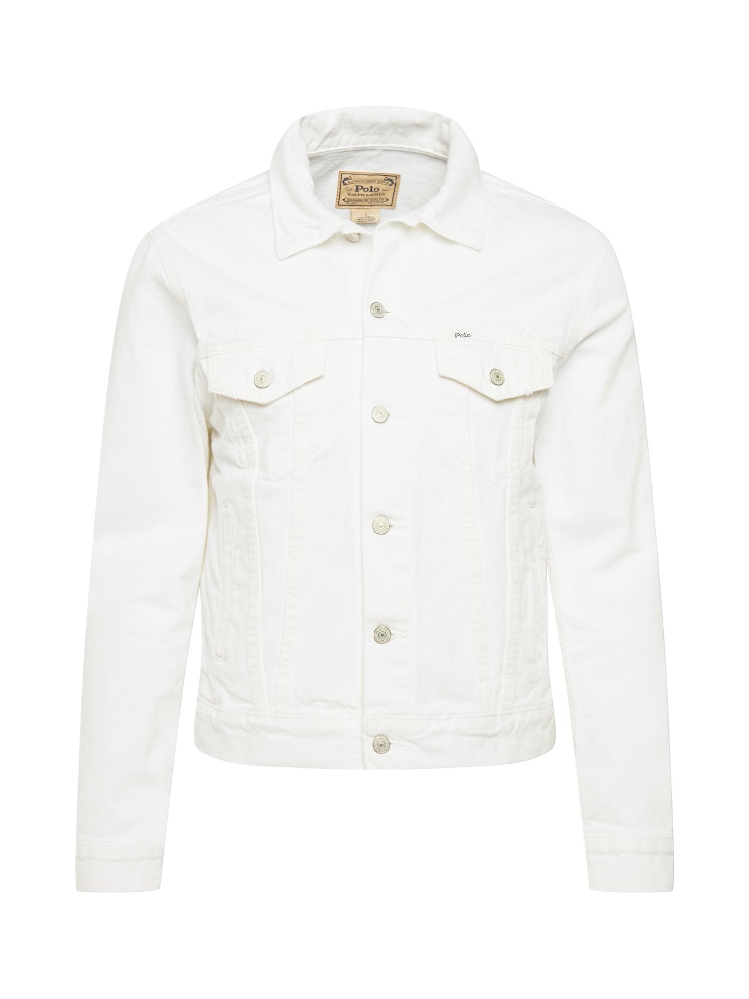 POLO RALPH LAUREN Demisezoninė striukė balto džinso spalva