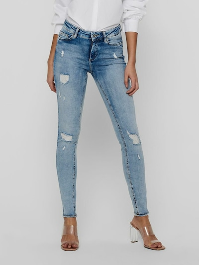 Only Blush Skinny-Jeans im Destroyed-Look mit ausgefranstem Saum