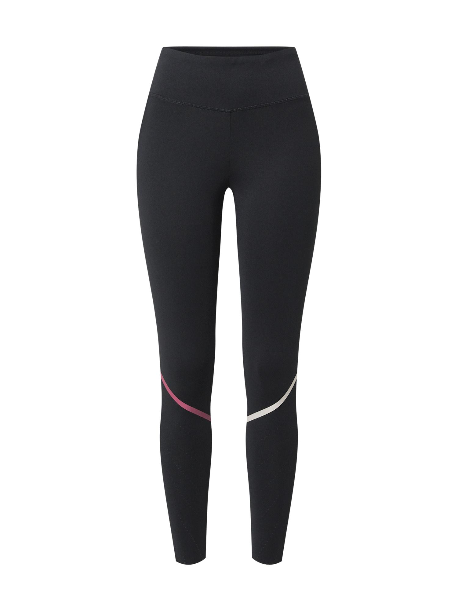 ESPRIT SPORT Sportinės kelnės juoda / rožinė / balta