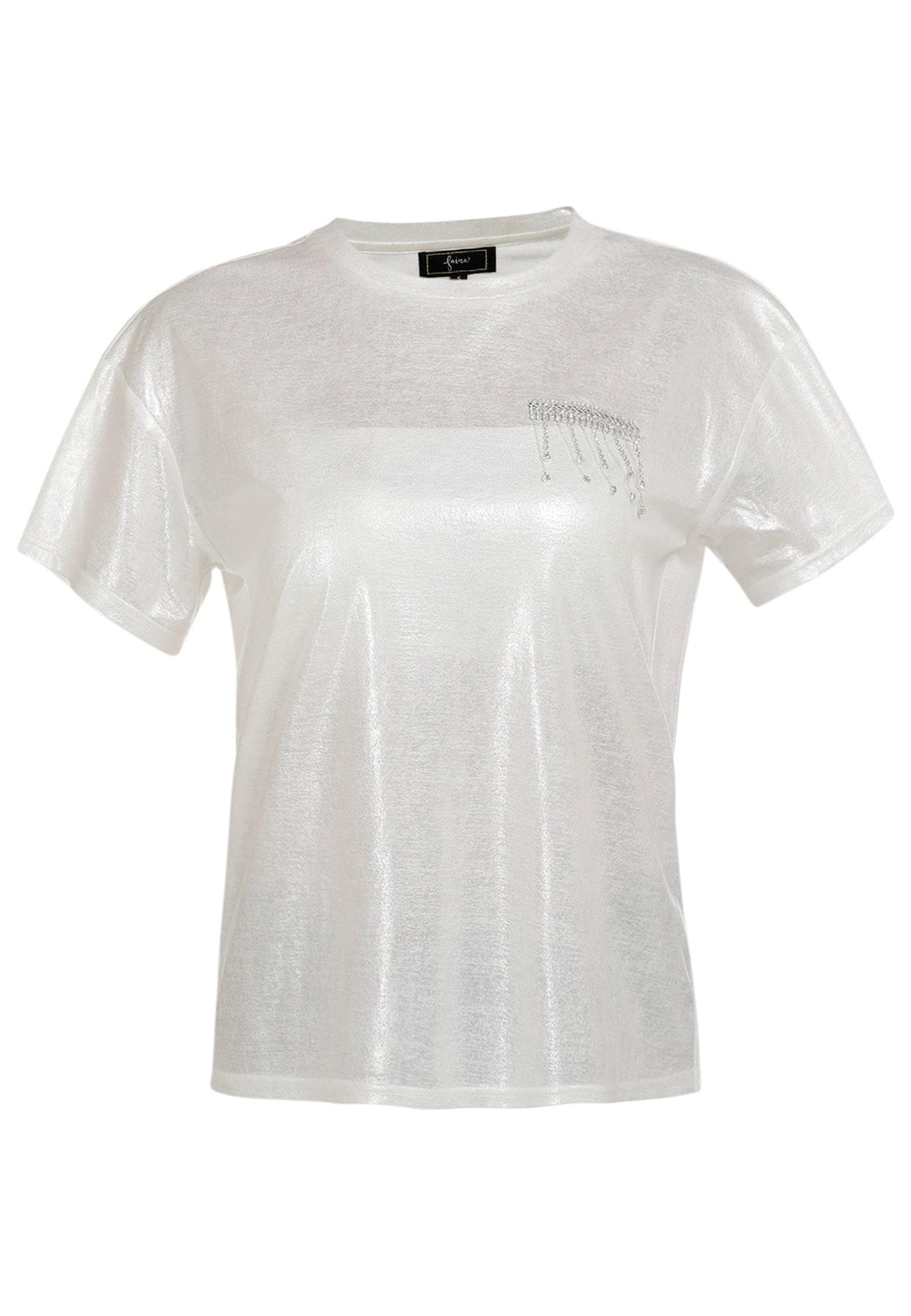 faina Marškinėliai perlų balta / skaidri spalva