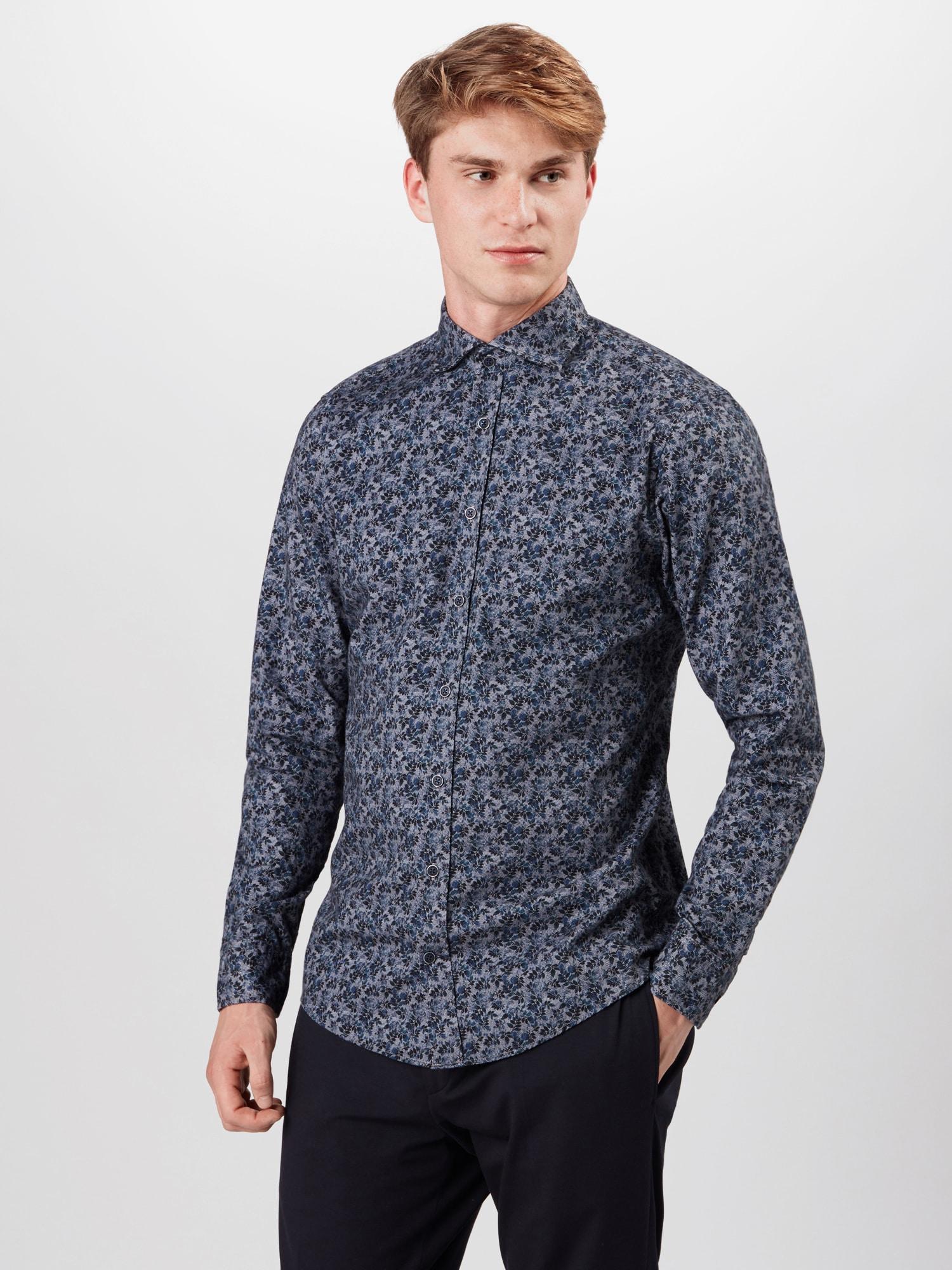 JOOP! Jeans Skjorta  blå / antracit