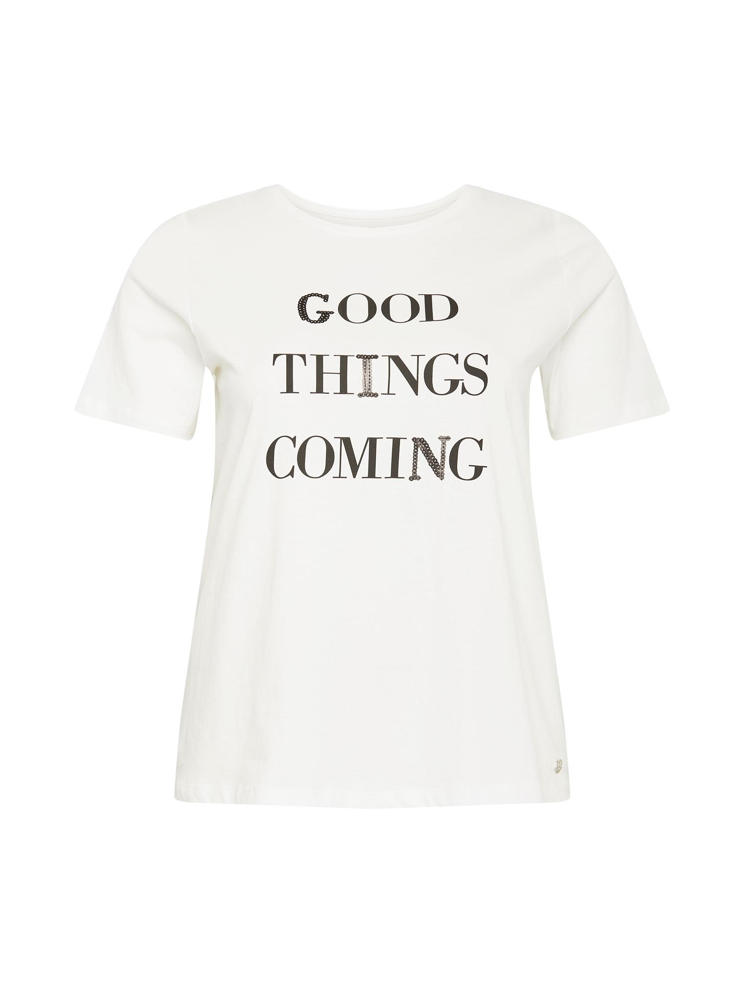 MY TRUE ME Marškinėliai natūrali balta / juoda
