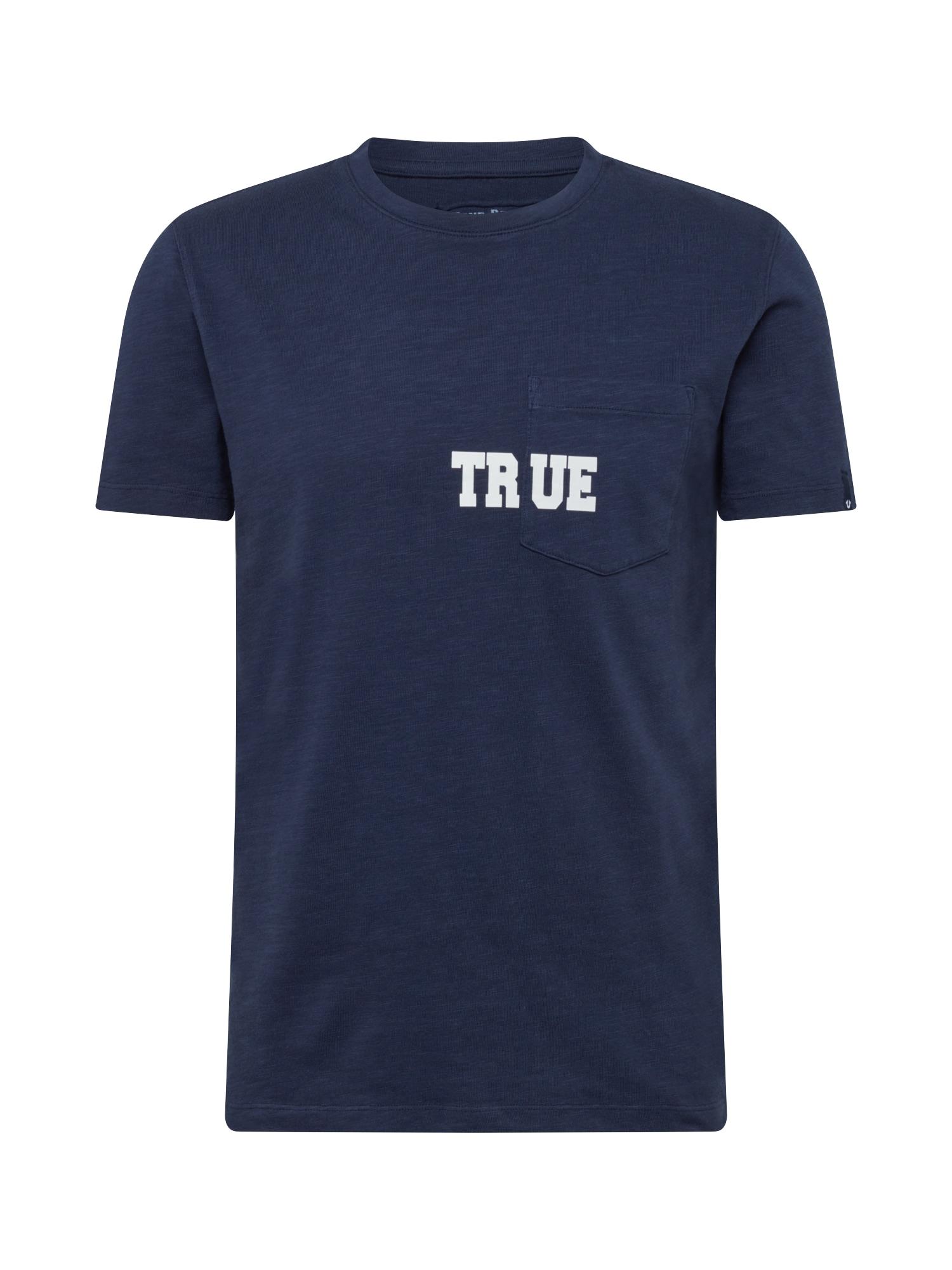 True Religion Tričko 'POCKET'  námořnická modř