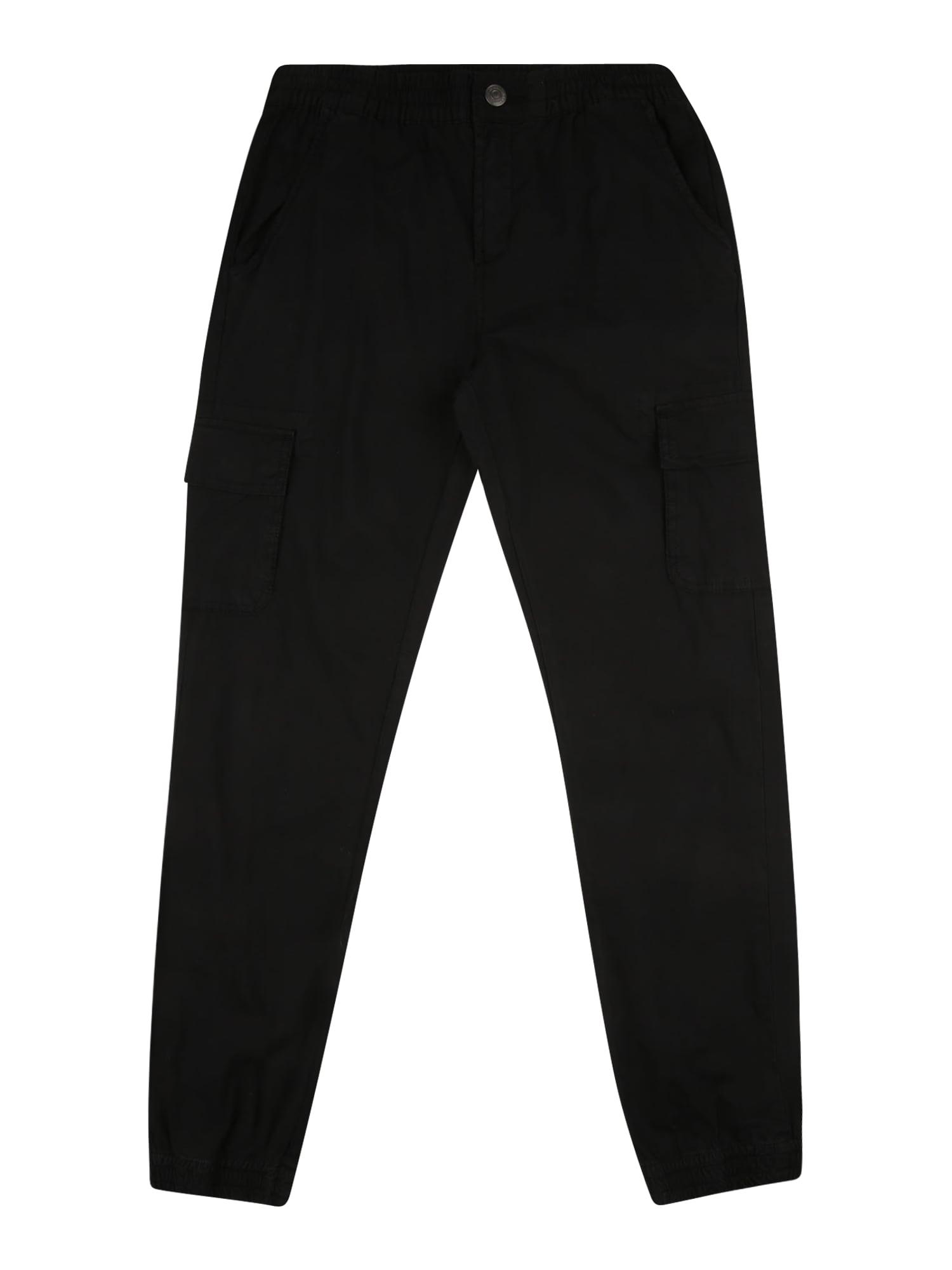 GUESS Kelnės 'POPLIN' juoda