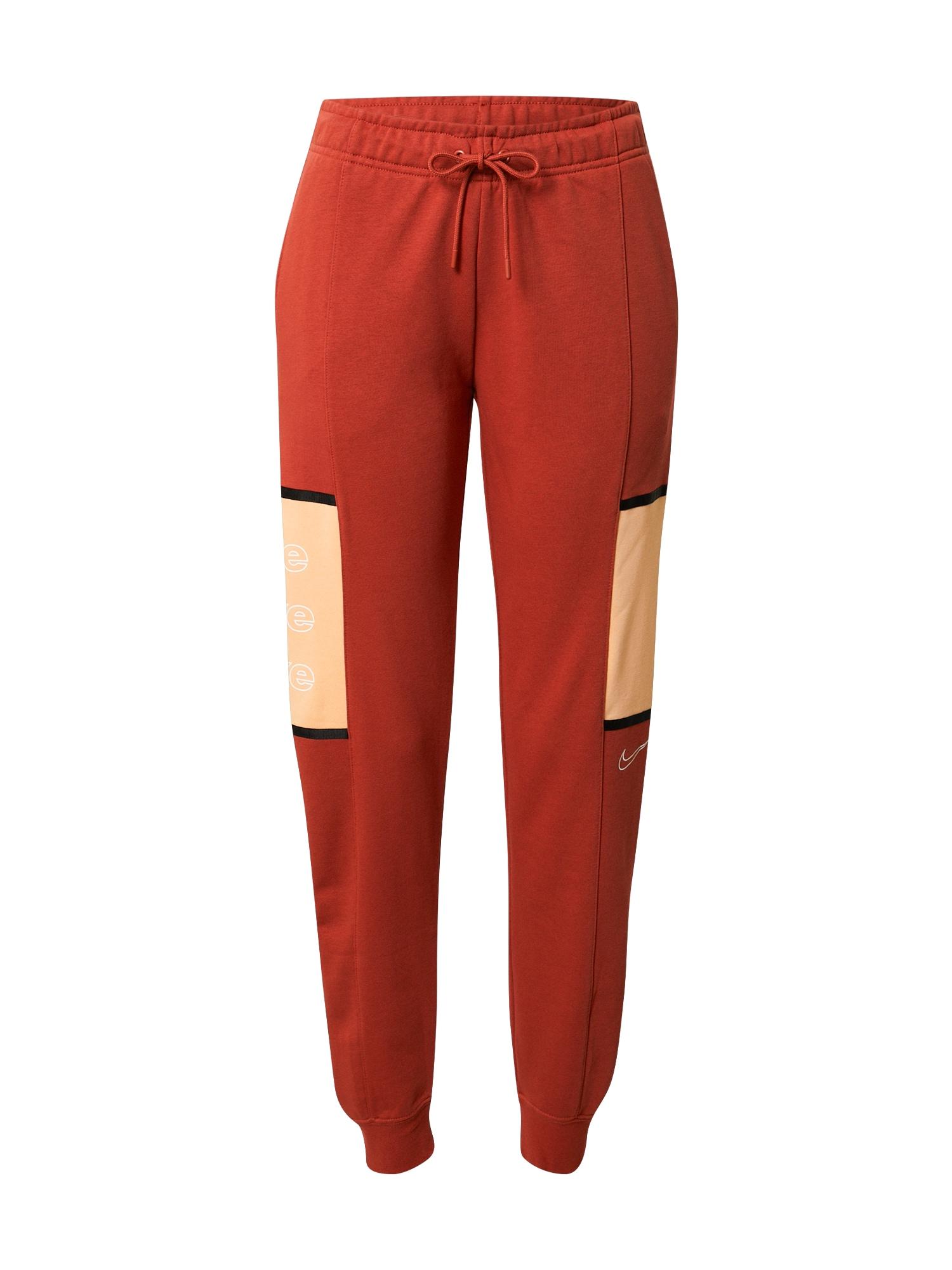 Nike Sportswear Kelnės juoda / oranžinė